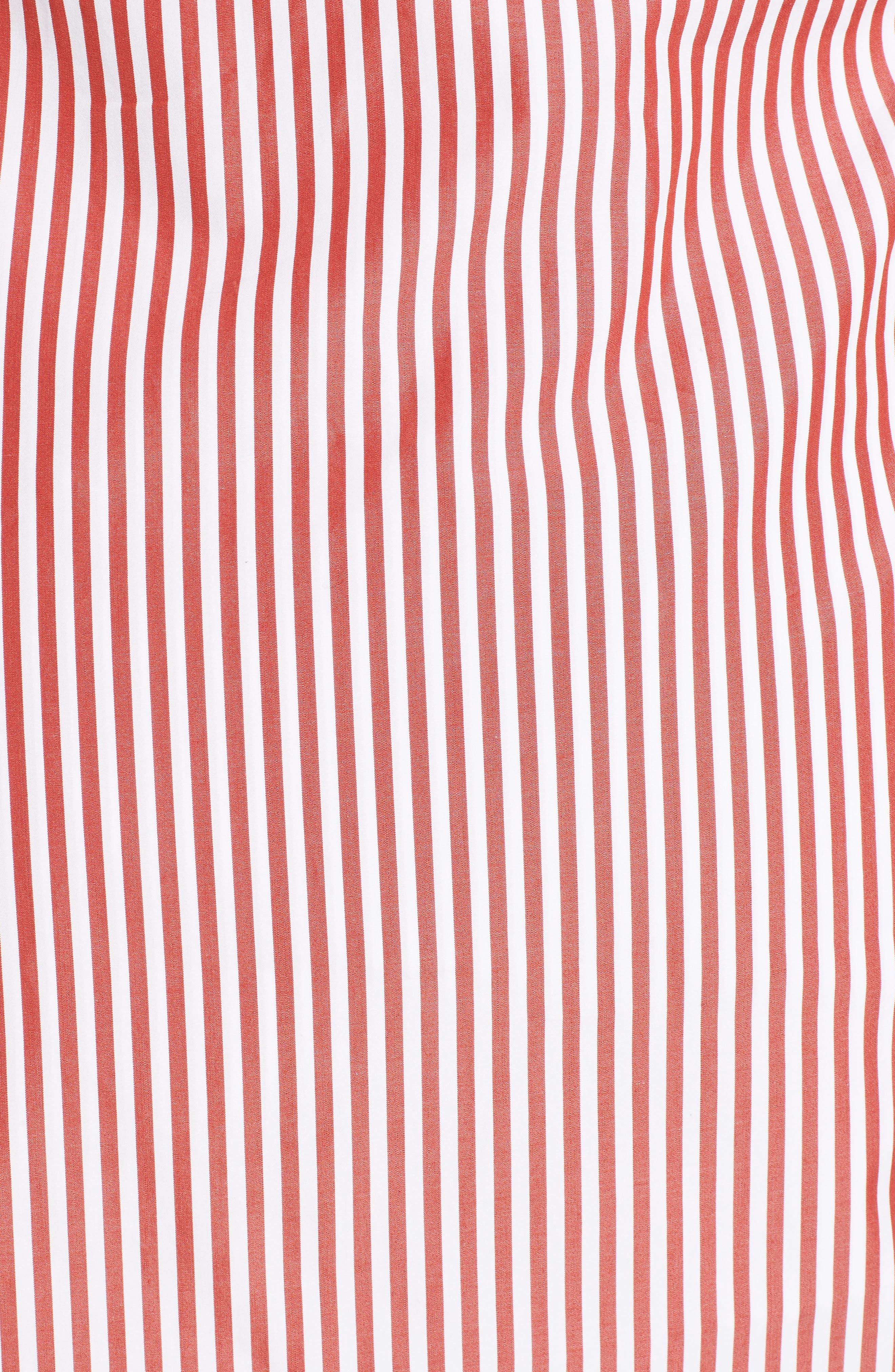 Stripe Wrap Tie Shirt,                             Alternate thumbnail 5, color,