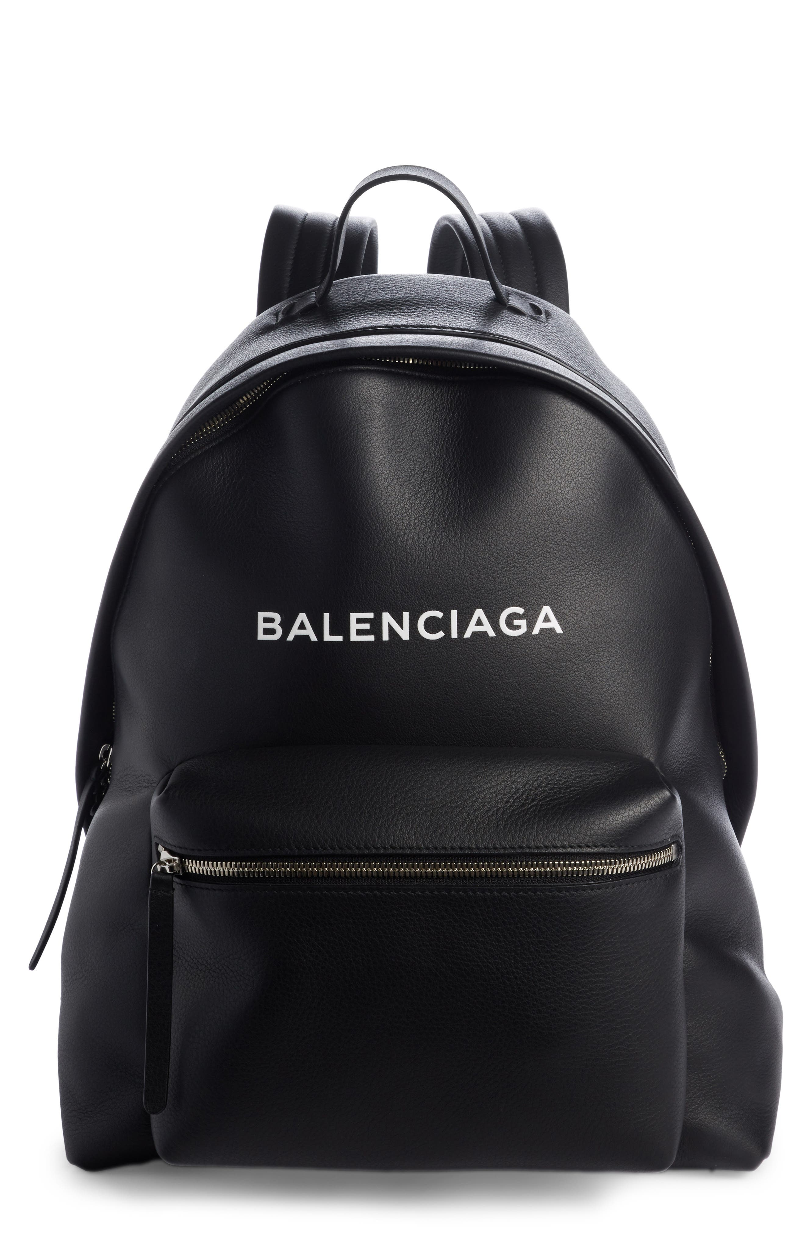 Everyday Calfskin Backpack,                         Main,                         color, 001