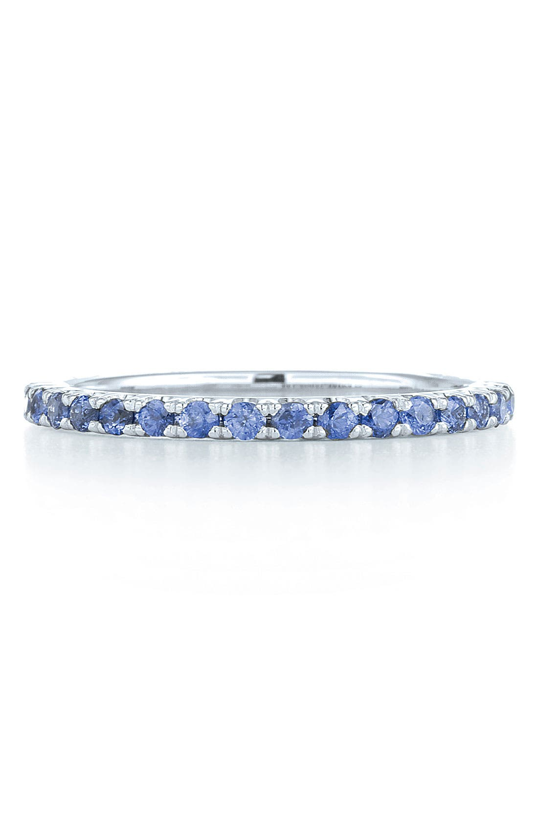 Blue Sapphire Stackable Ring,                             Alternate thumbnail 2, color,                             WHITE GOLD