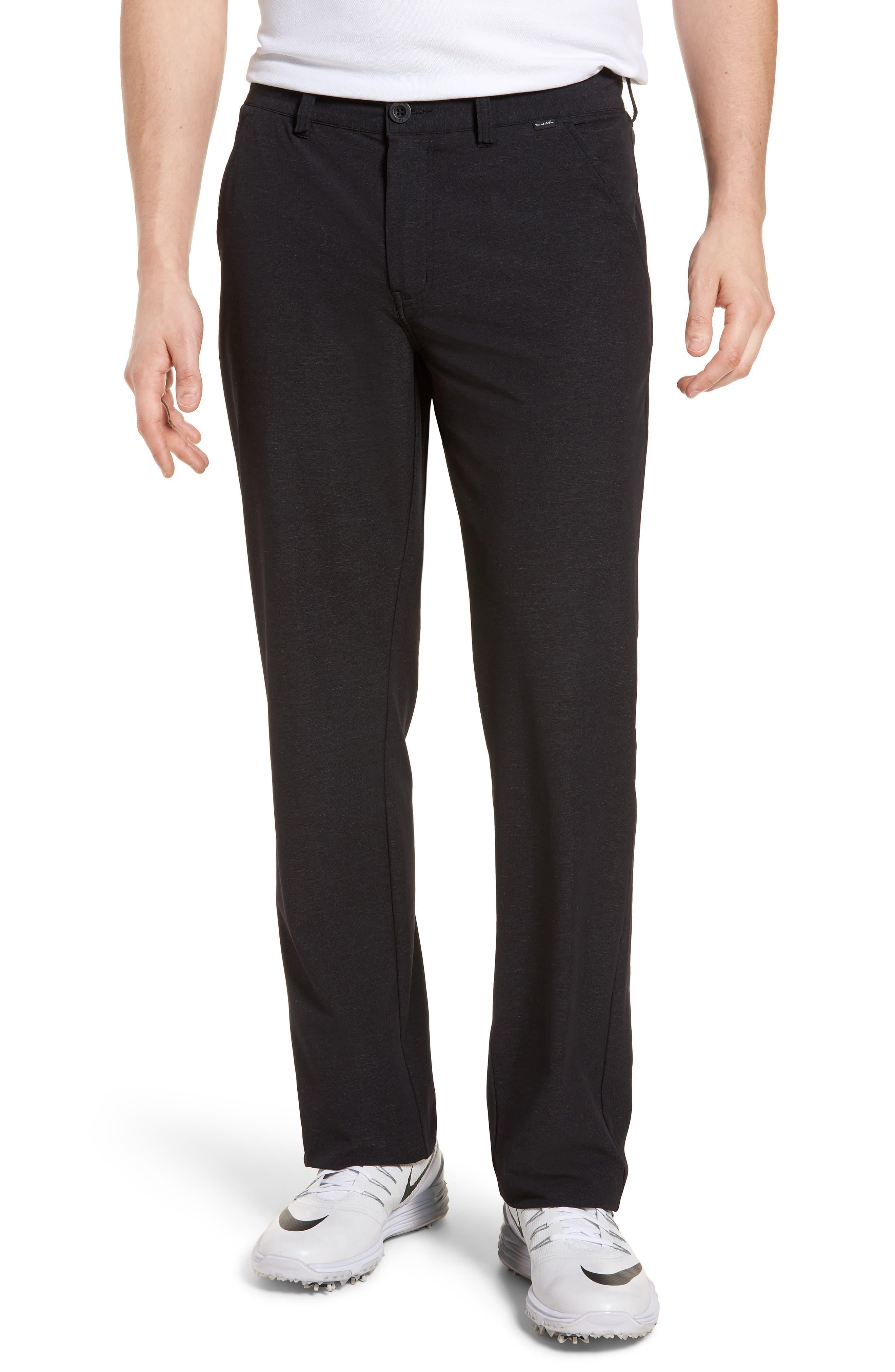 Mercurio Regular Fit Four-Way Stretch Pants,                         Main,                         color, HEATHER BLACK