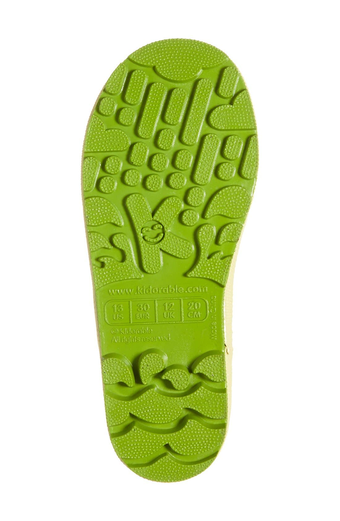 'Lotus' Waterproof Rain Boot,                             Alternate thumbnail 7, color,                             650