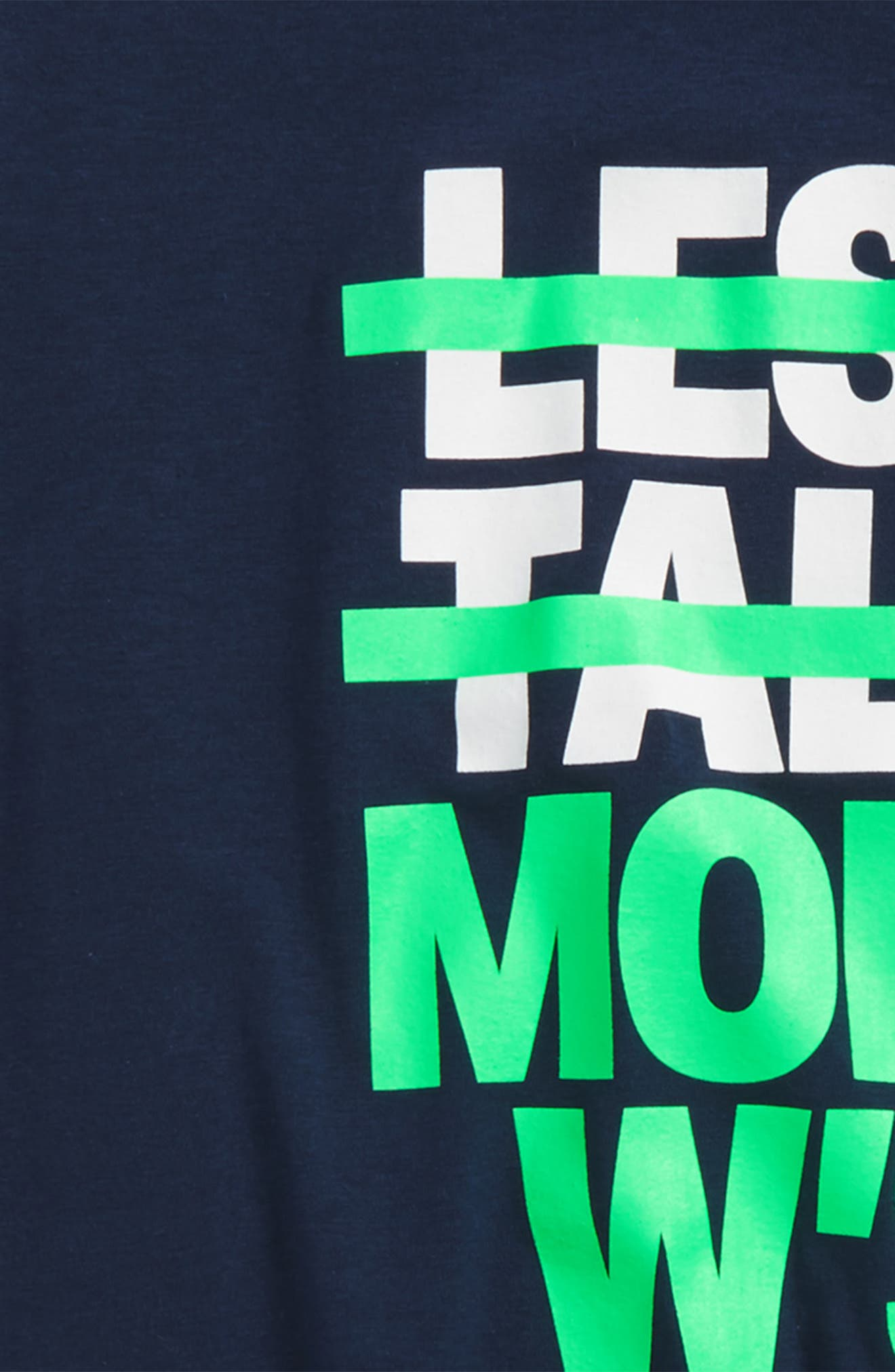 Less Talk More W's HeatGear<sup>®</sup> T-Shirt,                             Alternate thumbnail 3, color,