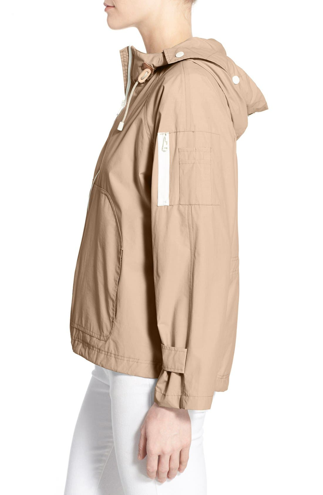 Sporty Hooded Jacket,                             Alternate thumbnail 4, color,                             CANYON ROSE