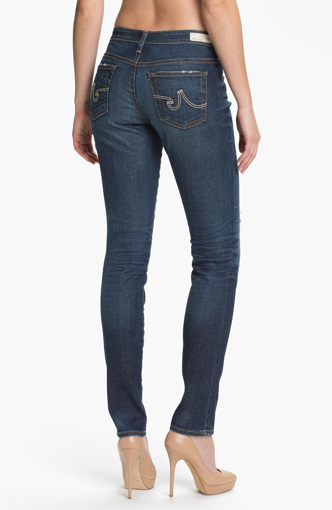 'The Legging' Super Skinny Jeans,                             Alternate thumbnail 21, color,