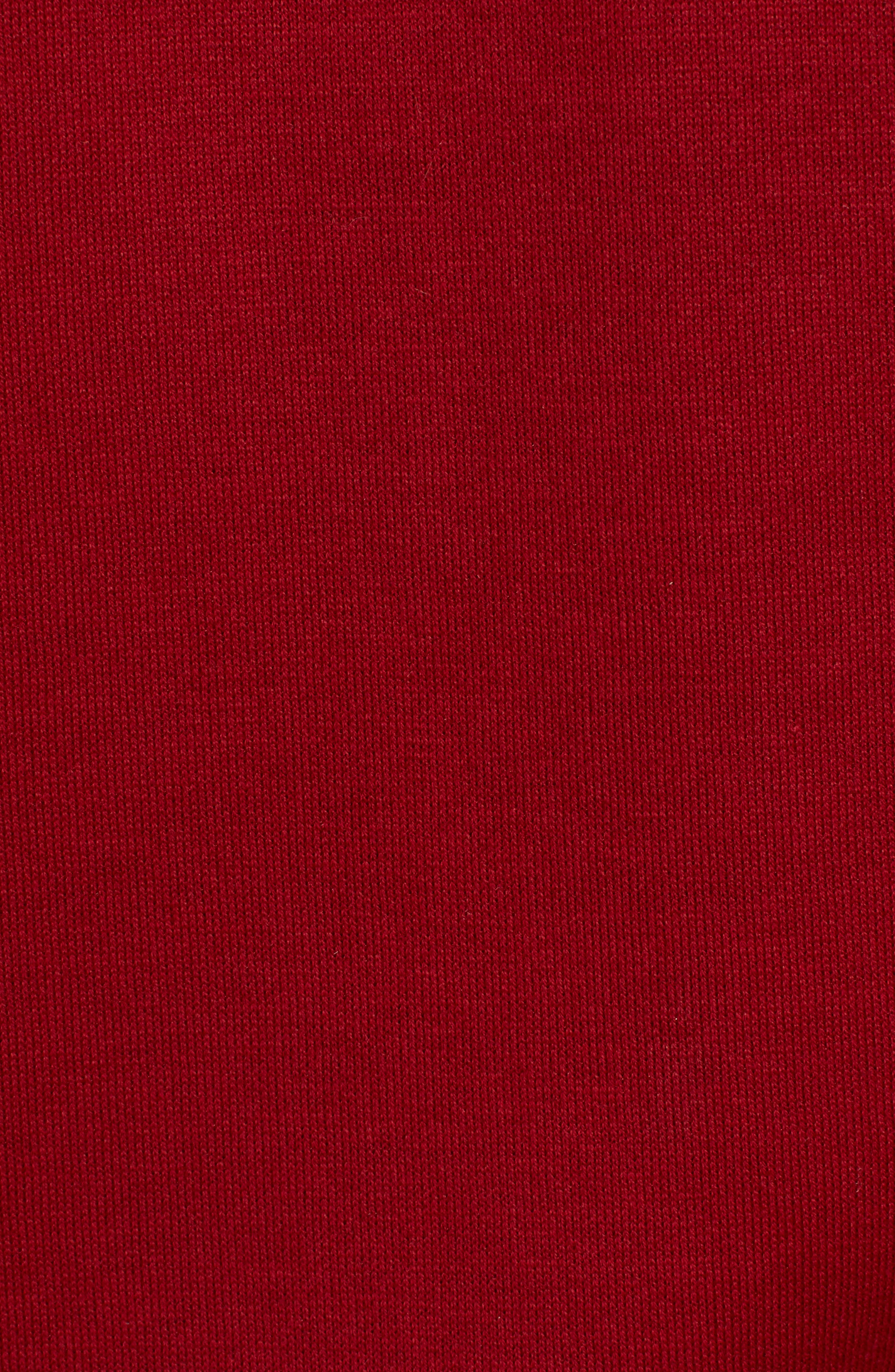 Sidney Quarter Zip Pullover,                             Alternate thumbnail 5, color,                             RED