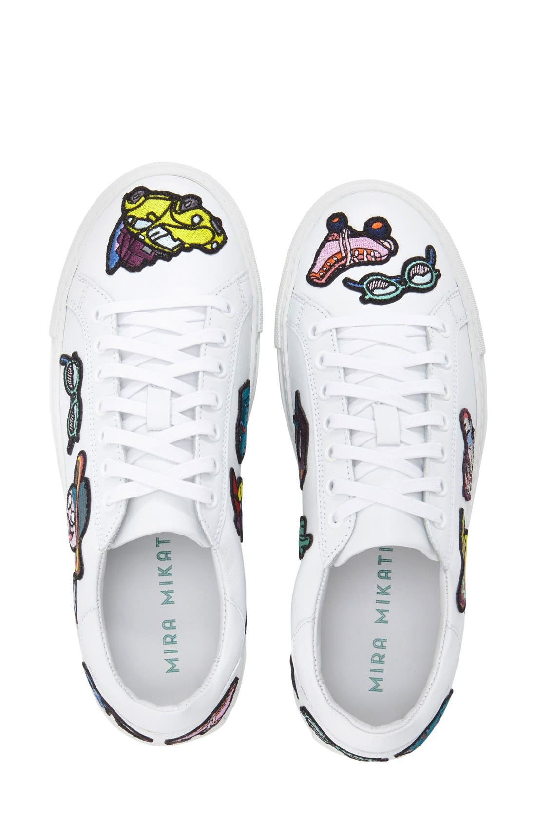 MIRA MIKATI,                             'Patches' Low Top Sneaker,                             Alternate thumbnail 2, color,                             111
