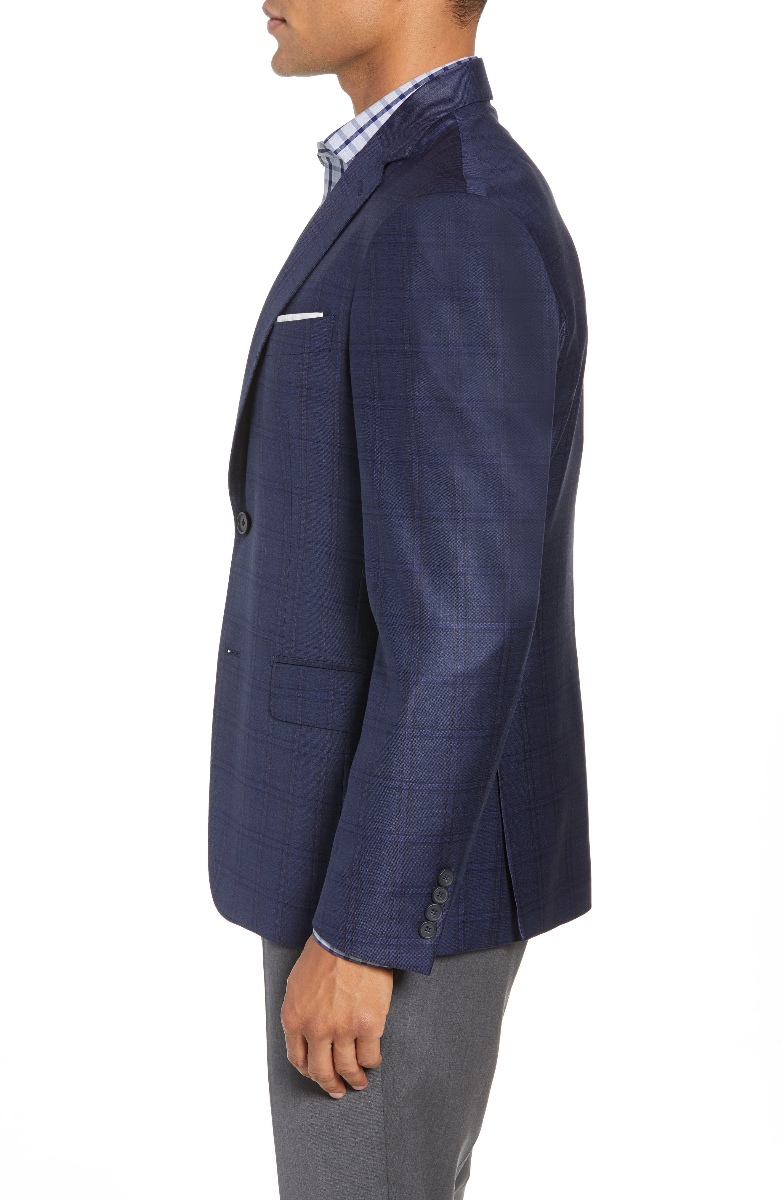 JOHN W. NORDSTROM<SUP>®</SUP>,                             Traditional Fit Plaid Wool Sport Coat,                             Alternate thumbnail 3, color,                             420