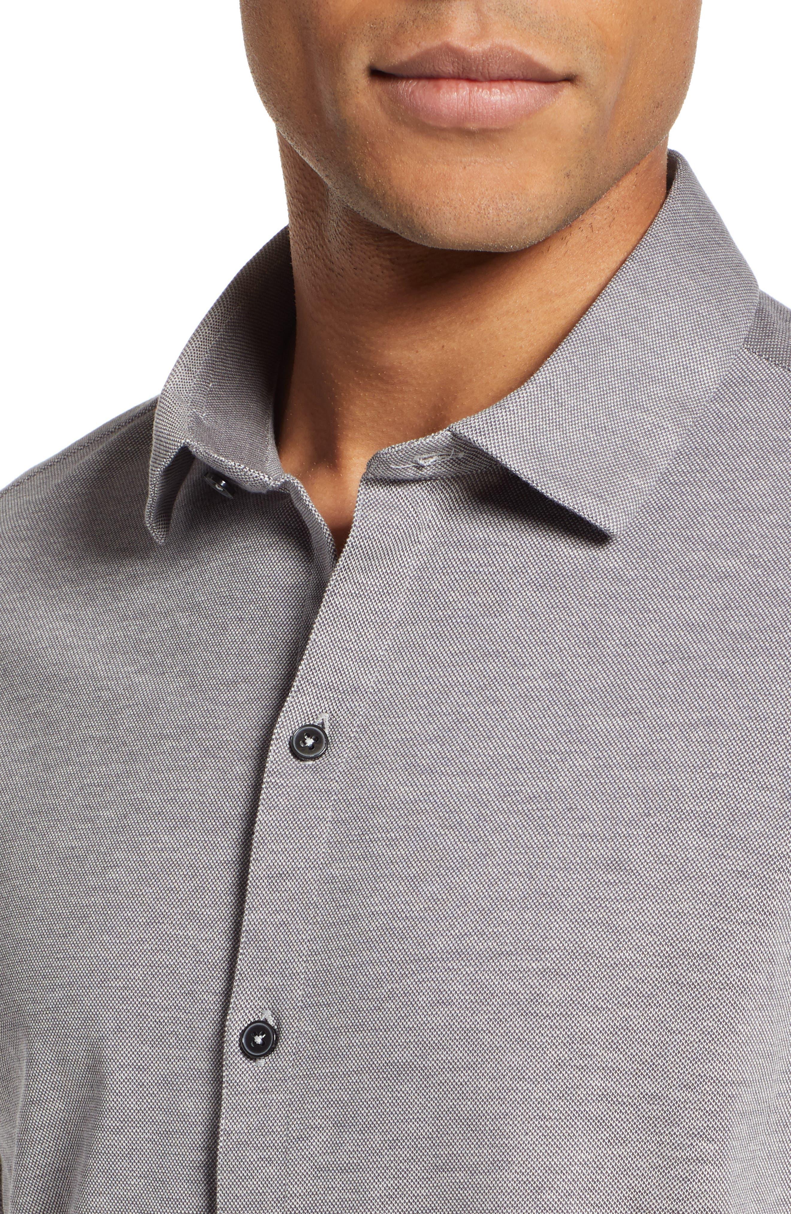 Raphael Regular Fit Sport Shirt,                             Alternate thumbnail 2, color,                             CHARCOAL