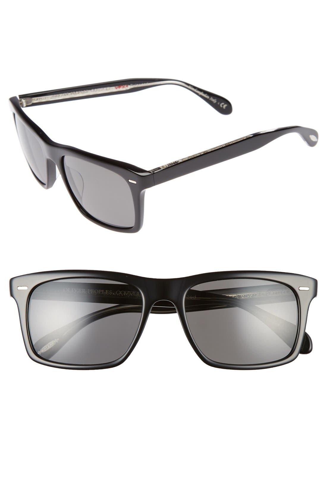 Brodsky 55mm Polarized Sunglasses,                             Main thumbnail 1, color,                             001