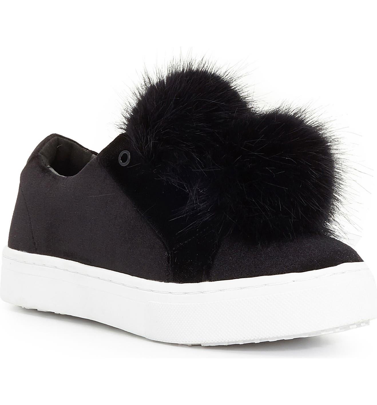 50a272574c0d99 Sam Edelman  Leya  Faux Fur Laceless Sneaker (Women)