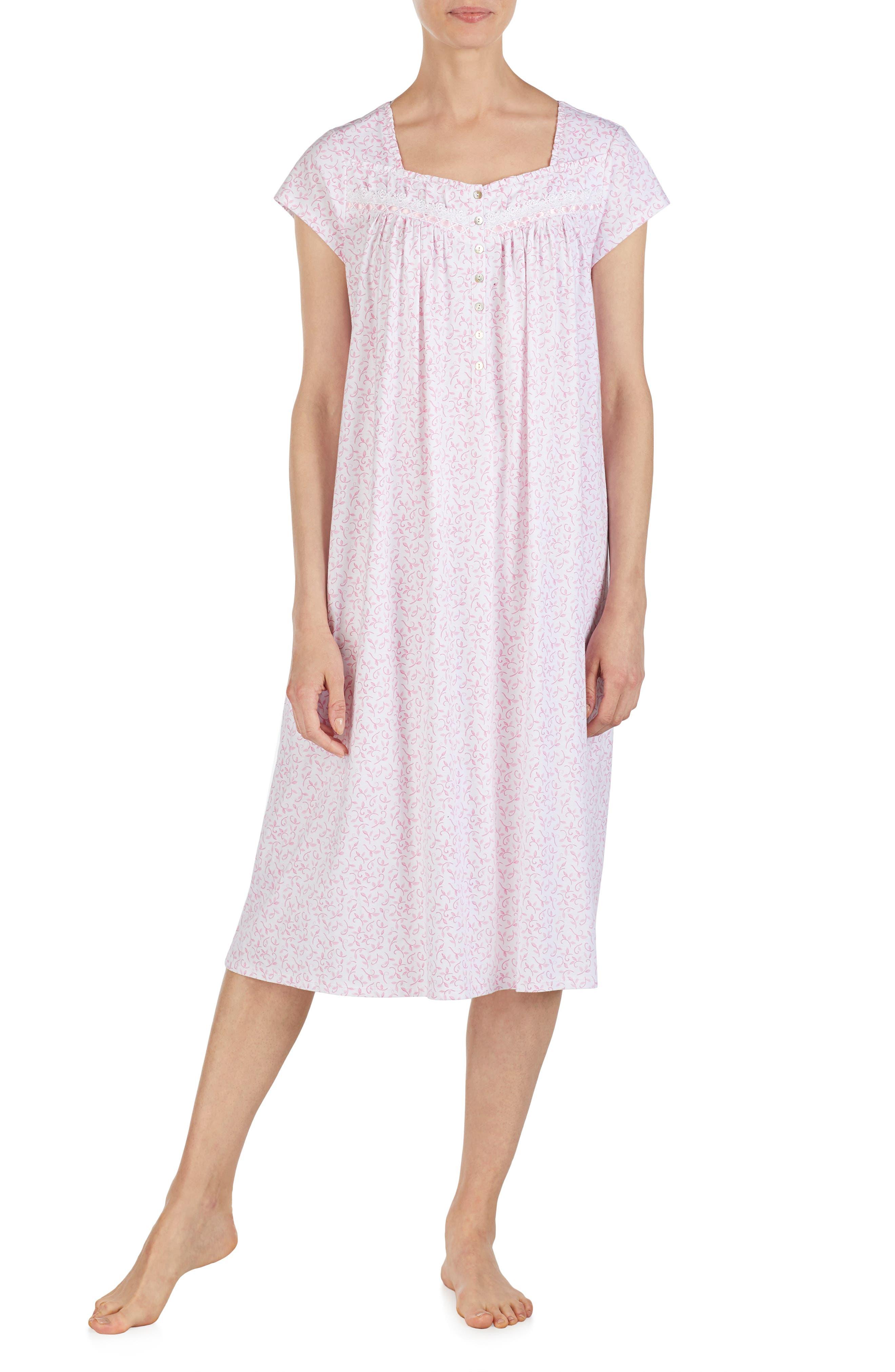 Eileen West Jersey Nightgown, Pink