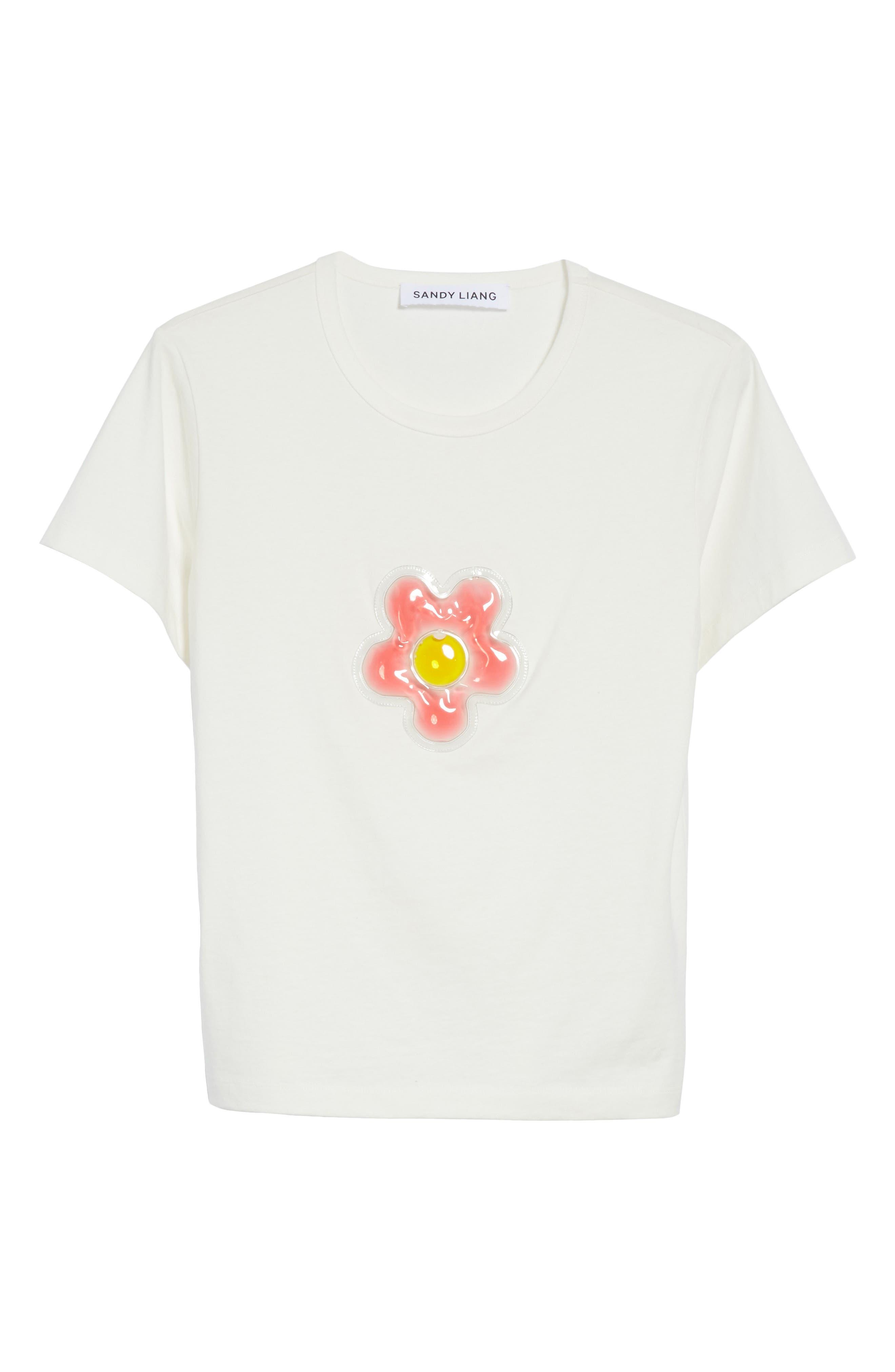 Colby Flower Tee,                             Alternate thumbnail 6, color,                             100