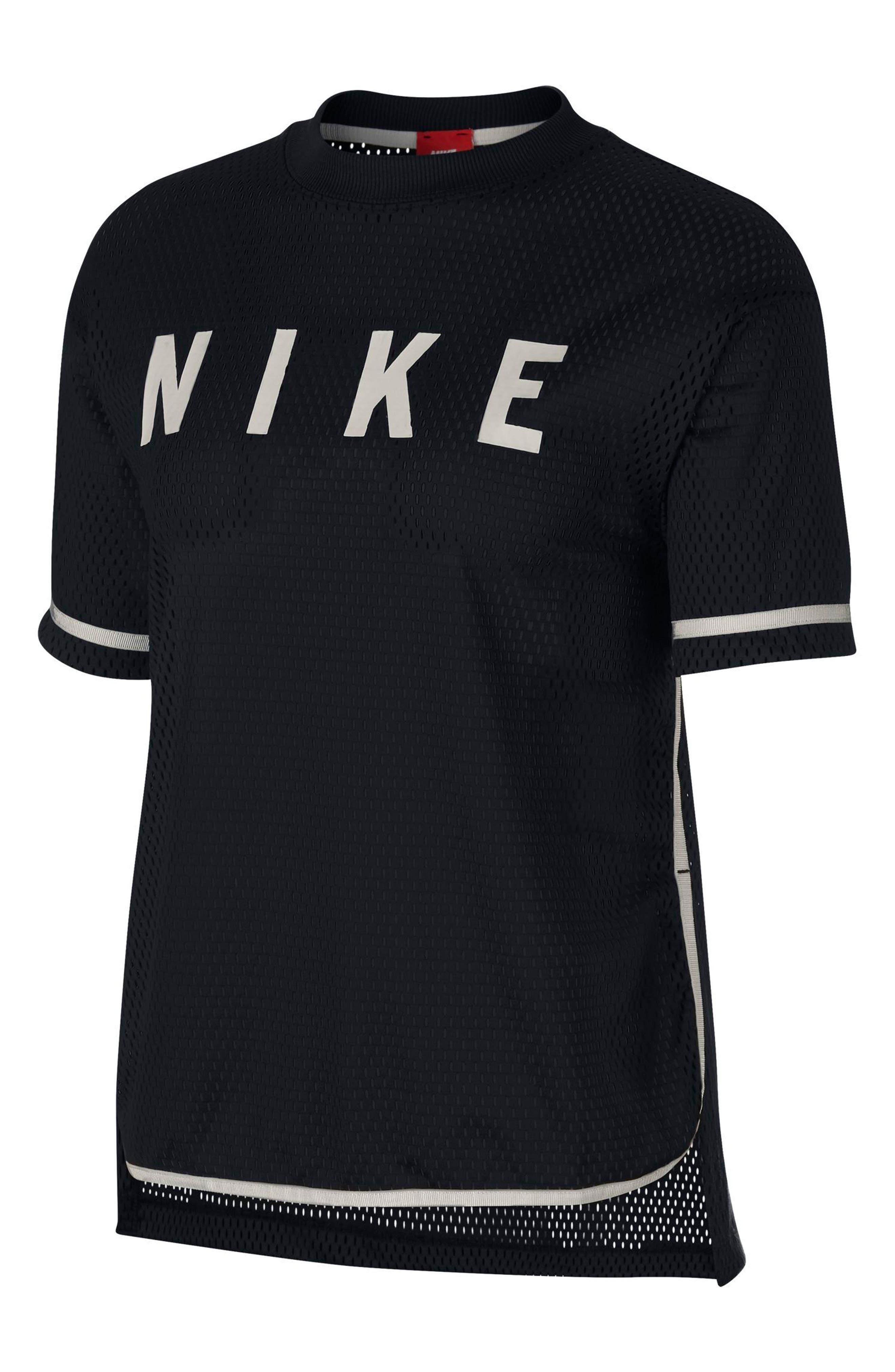 Sportswear Short Sleeve Dri-FIT Mesh Tee,                         Main,                         color, 010