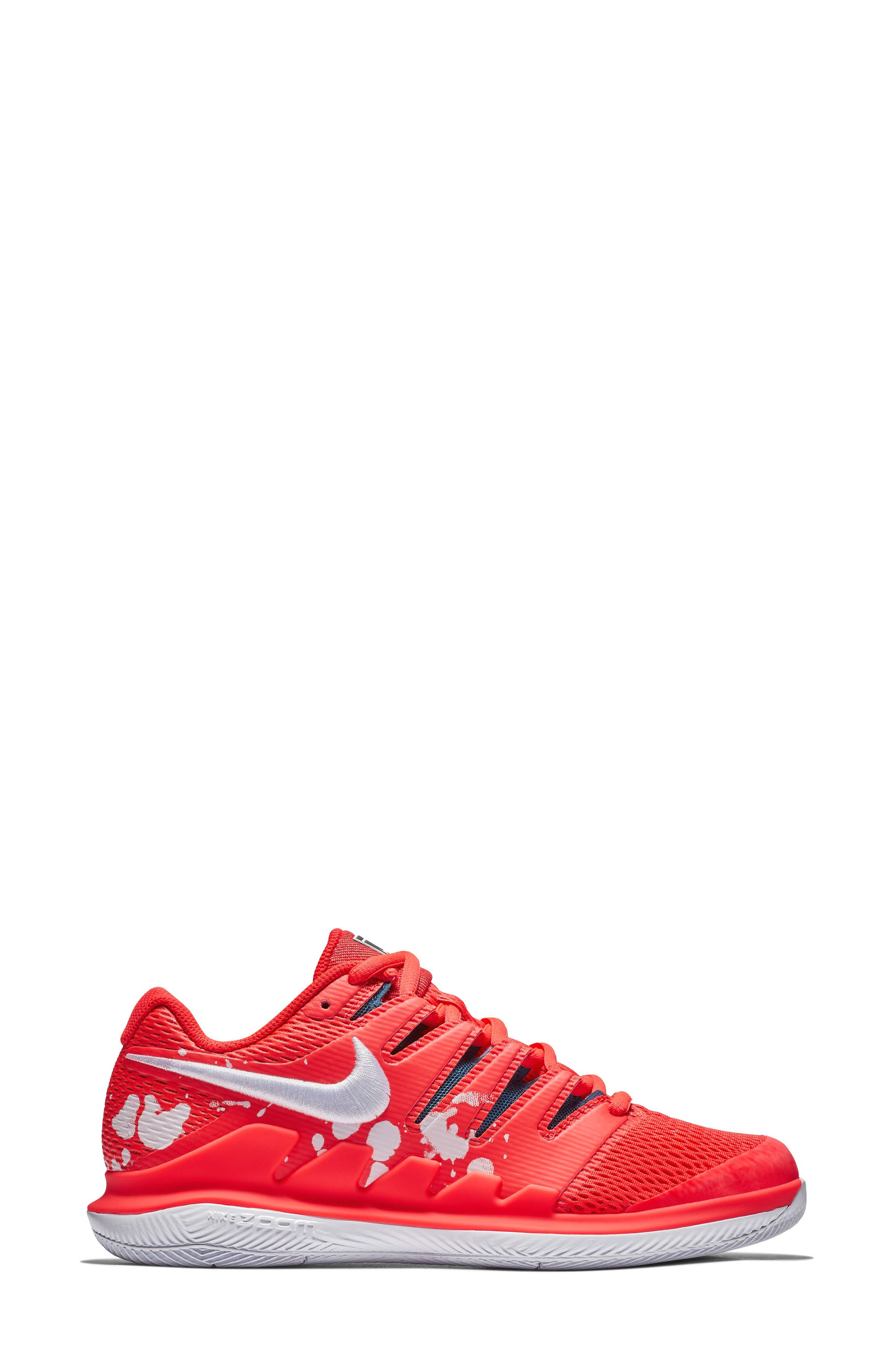 Air Zoom Vapor X Tennis Shoe,                             Alternate thumbnail 3, color,                             BRIGHT CRIMSON/ WHITE- BLUE