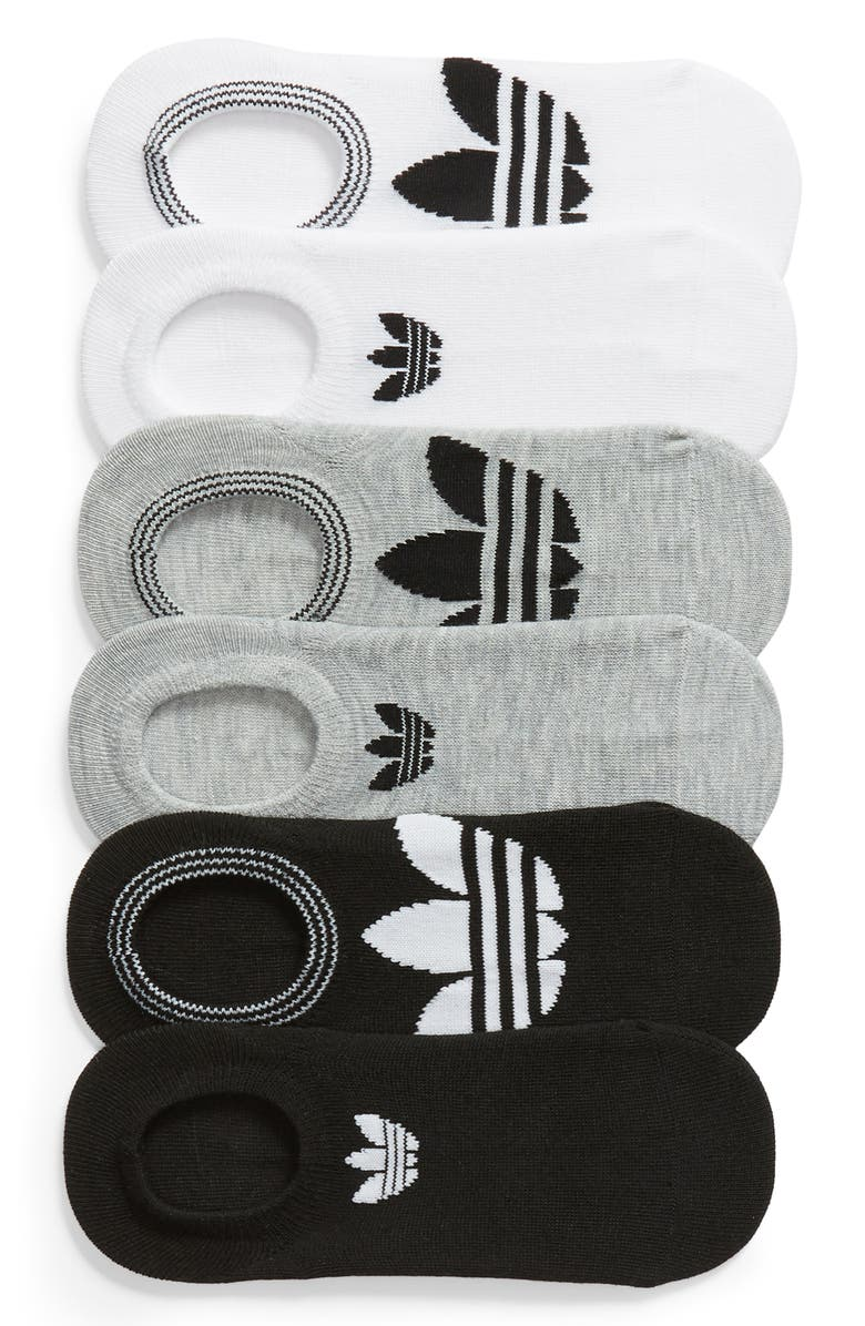 buy online 7e052 2566d ADIDAS 6-Pack Trefoil Superlite No-Show Socks, Main, color, WHITE