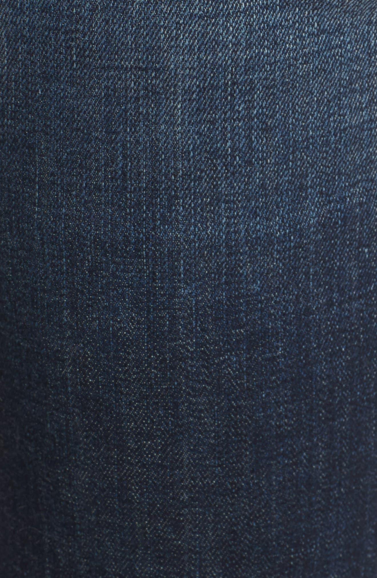 Newton High Waist Skinny Jeans,                             Alternate thumbnail 5, color,                             420