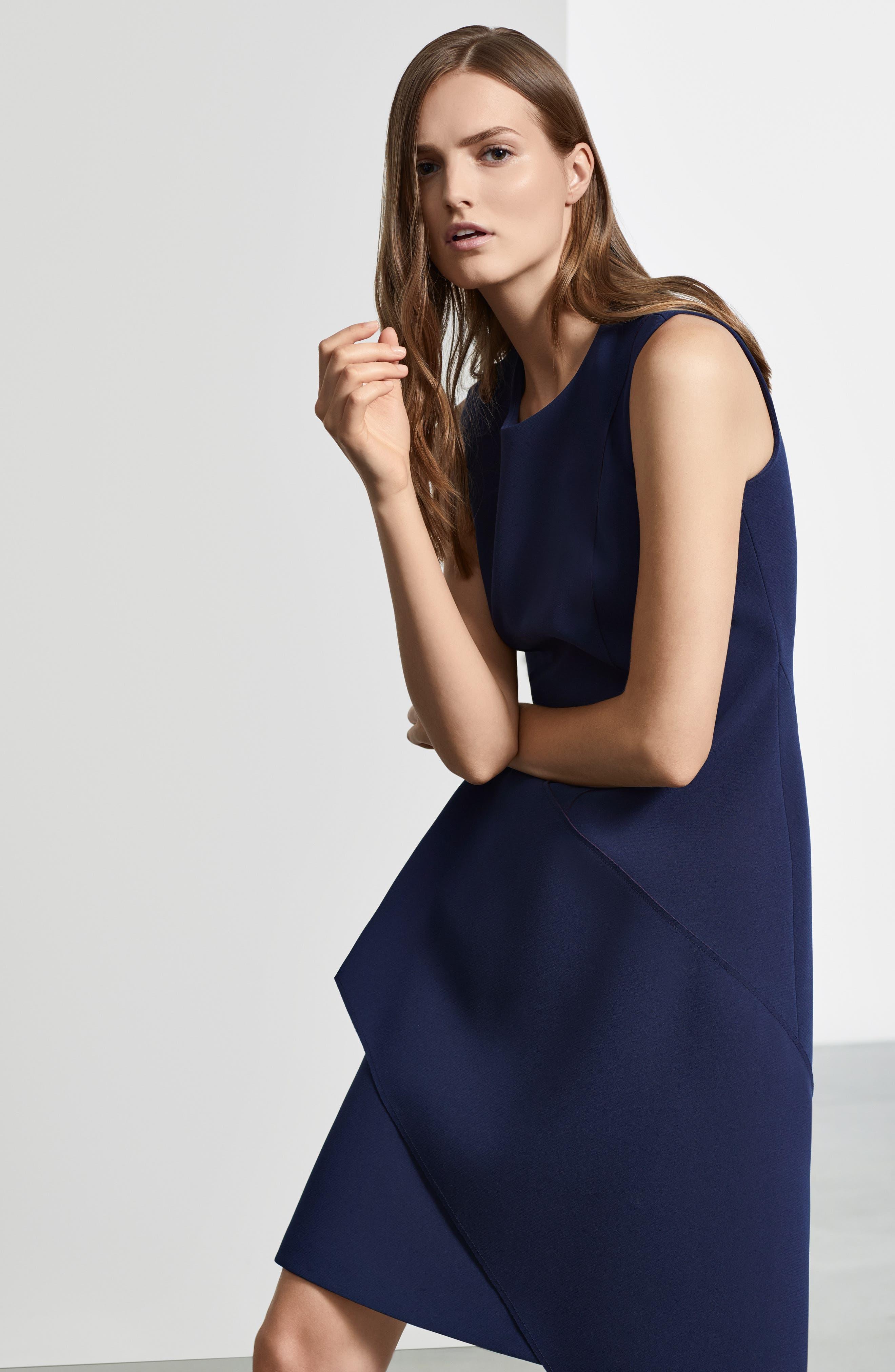 Delakety Asymmetrical A-Line Dress,                             Alternate thumbnail 8, color,                             DEEP BLUE FANTASY