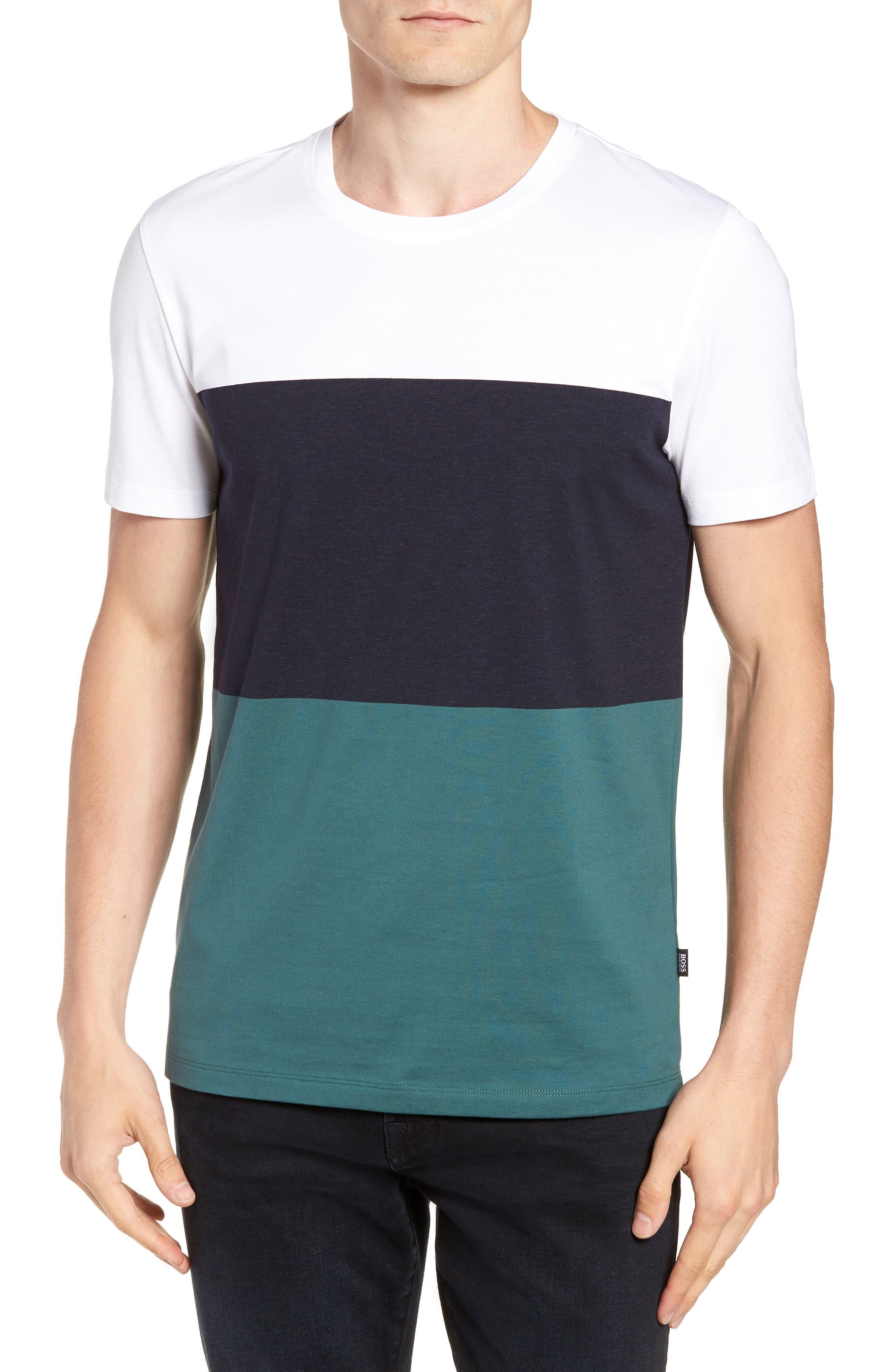 Tessler Colorblock Slim Fit T-Shirt,                             Main thumbnail 1, color,                             BLUE