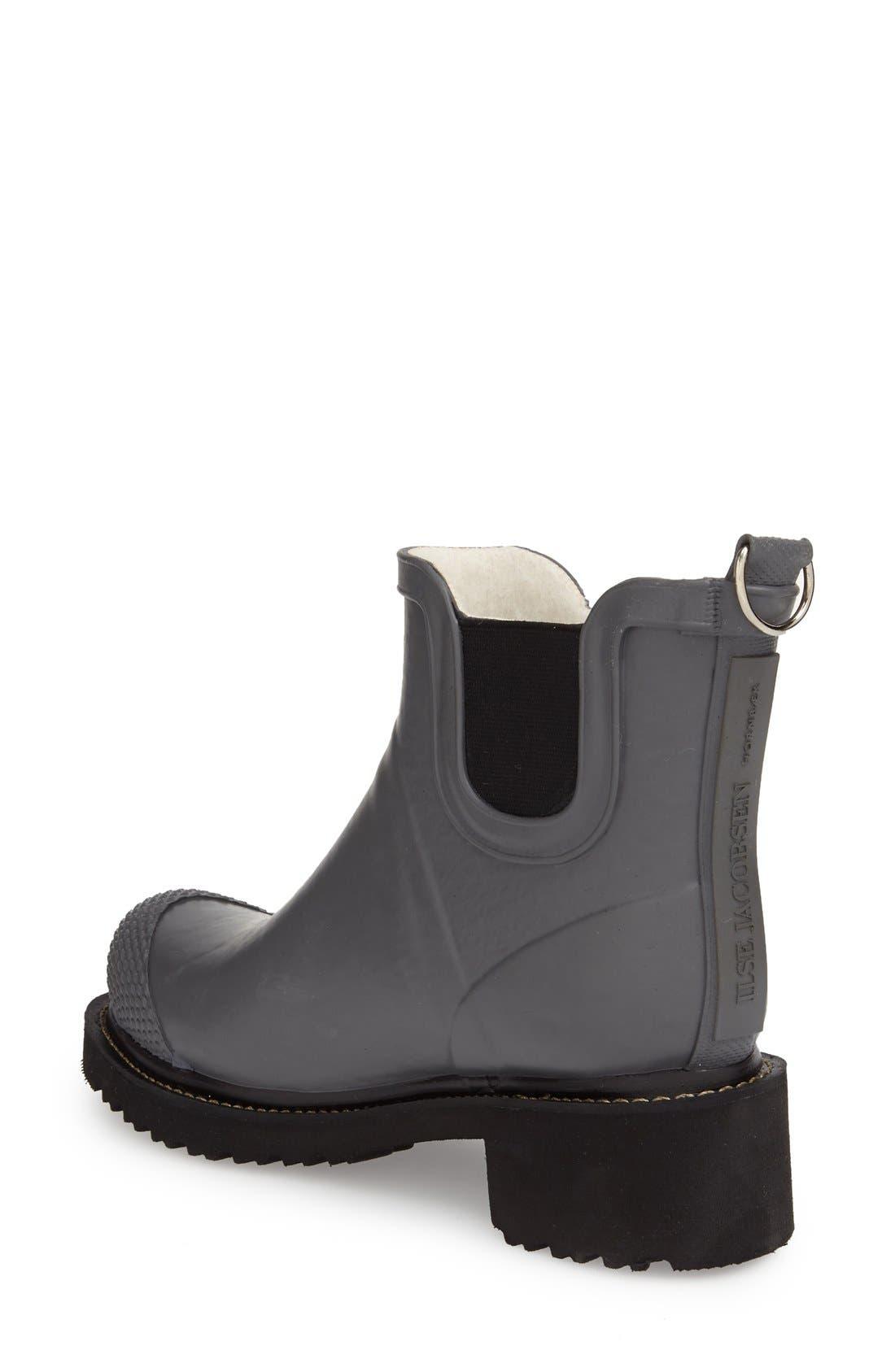 'RUB 47' Short Waterproof Rain Boot,                             Alternate thumbnail 2, color,                             GREY