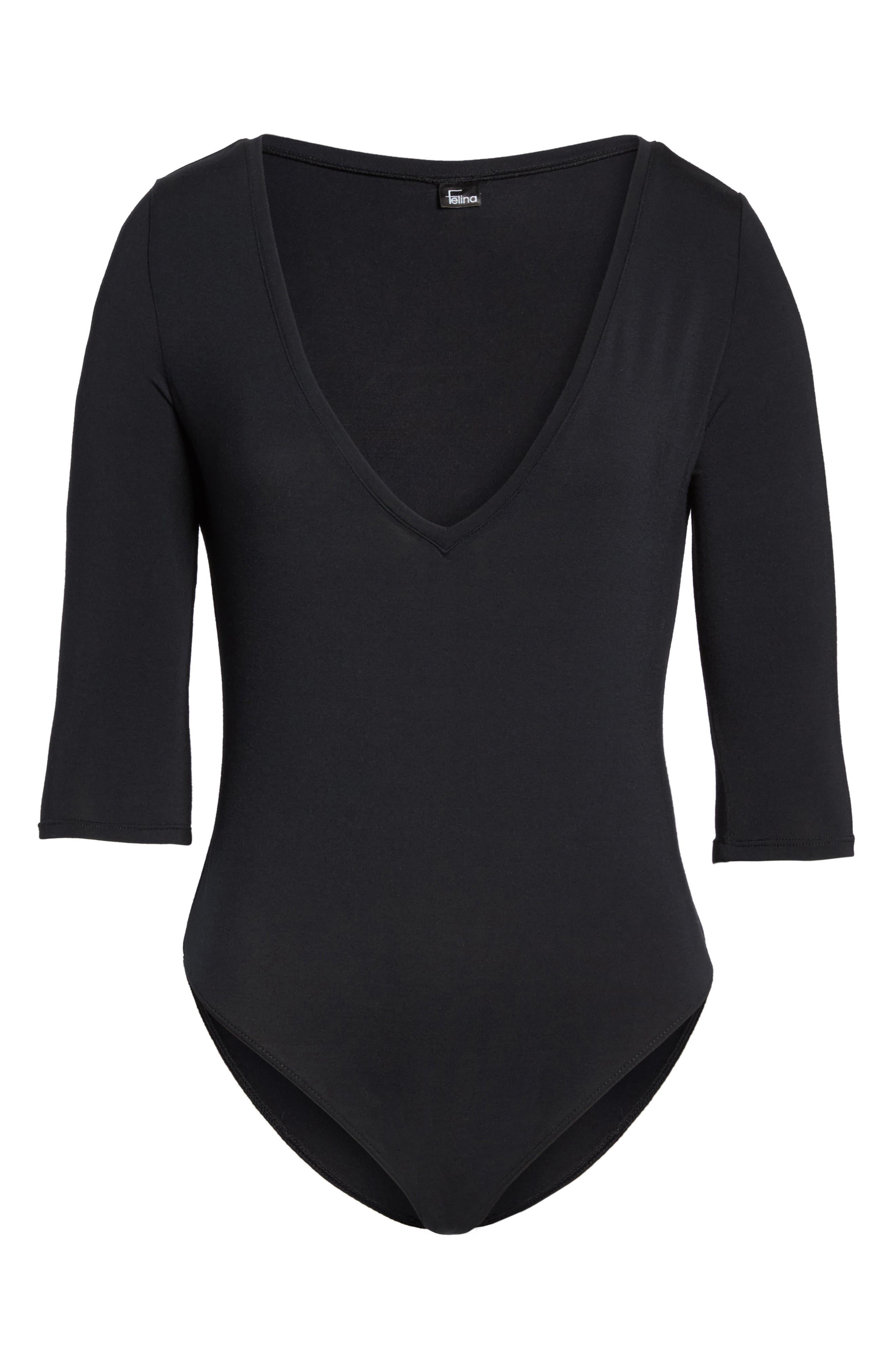 Modal Bodysuit,                             Alternate thumbnail 6, color,                             001