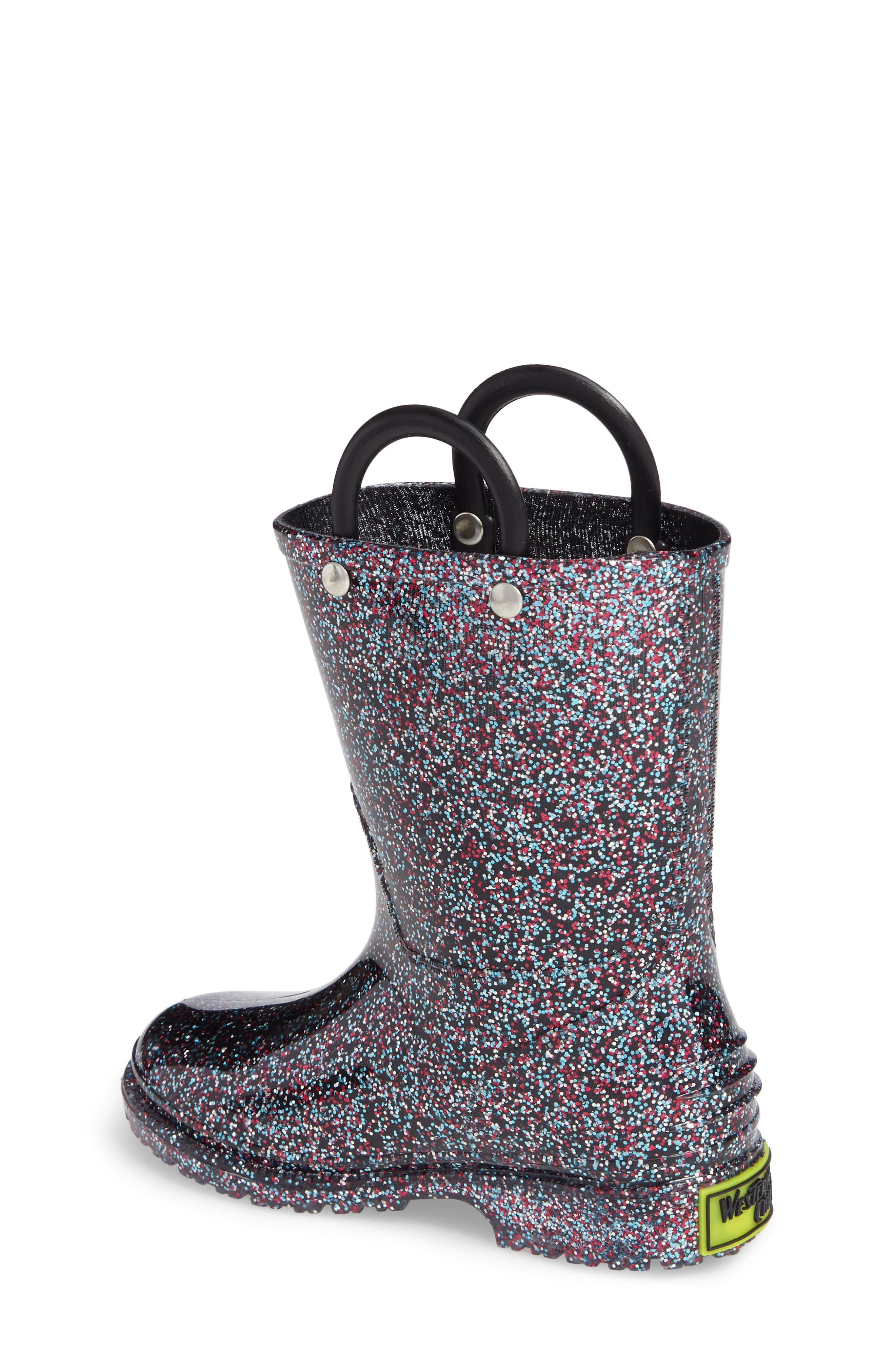 WESTERN CHIEF,                             Glitter Waterproof Rain Boot,                             Alternate thumbnail 2, color,                             MULTI
