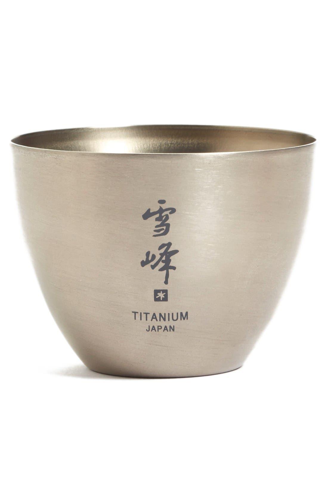 Titanium Saké Cup,                             Main thumbnail 1, color,                             041