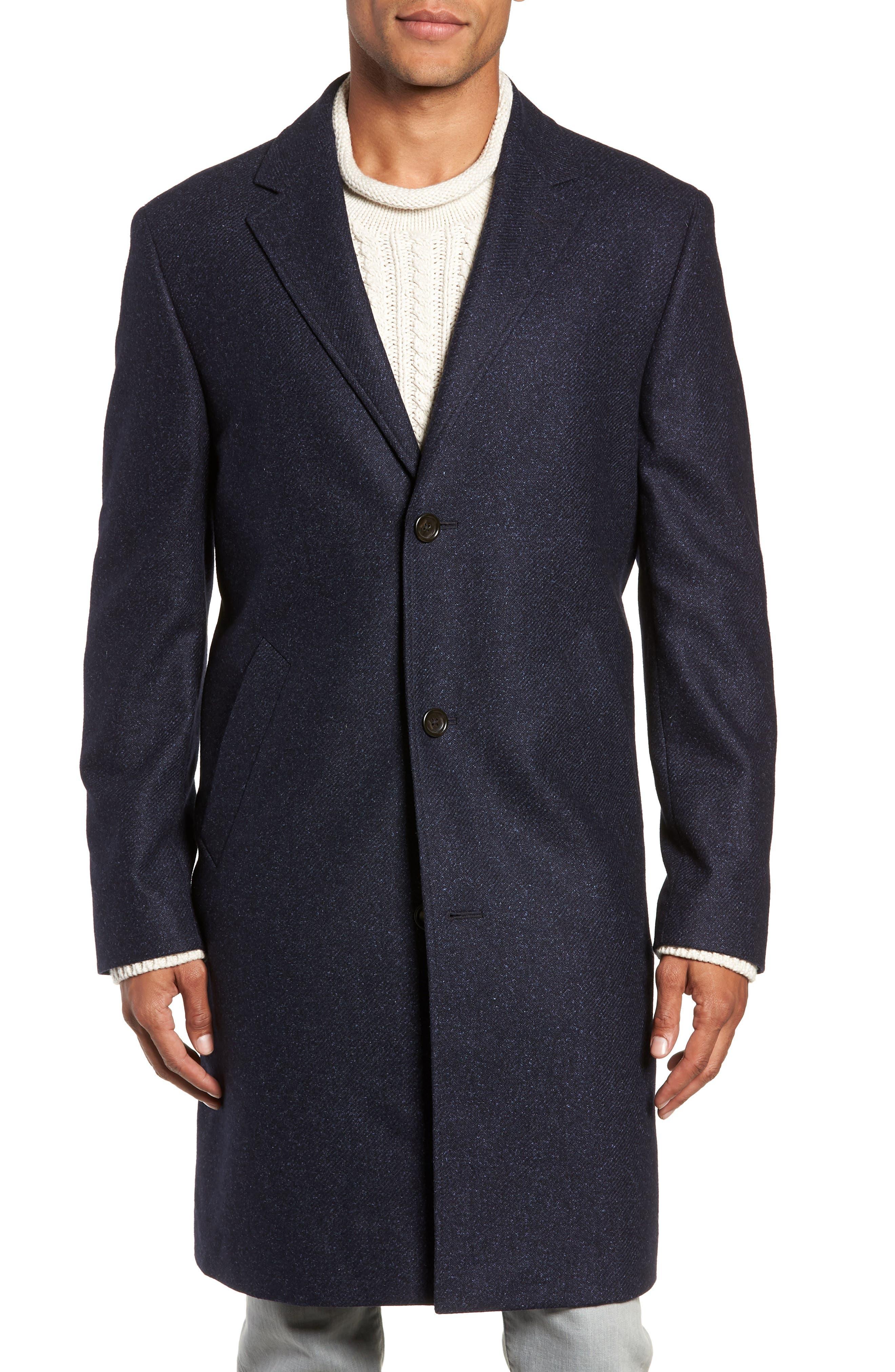 Destination Water Resistant Tweed Topcoat,                             Alternate thumbnail 4, color,                             400