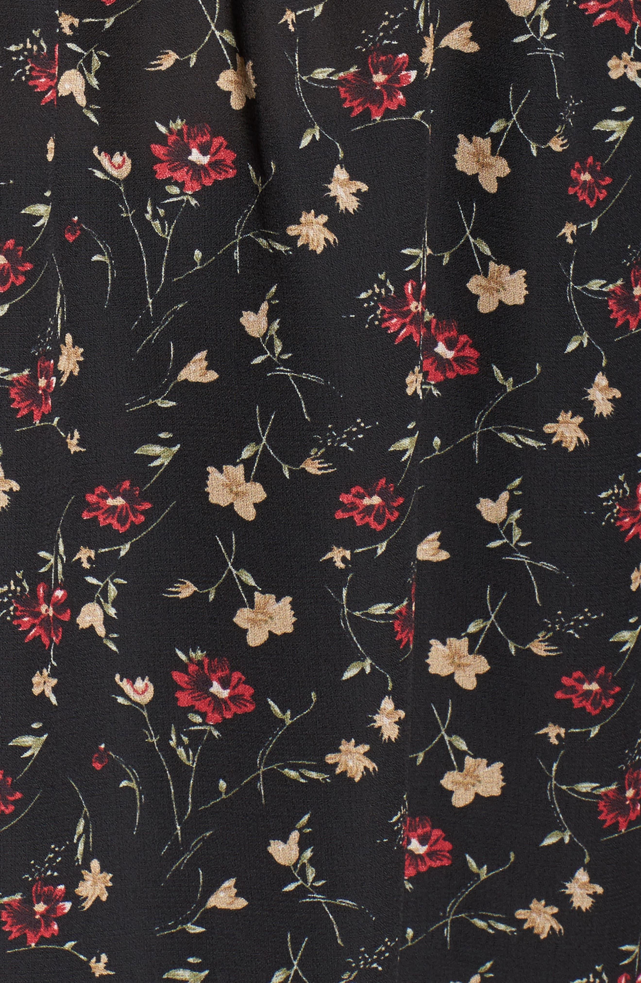 Velvet Tie Floral Blouse,                             Alternate thumbnail 5, color,