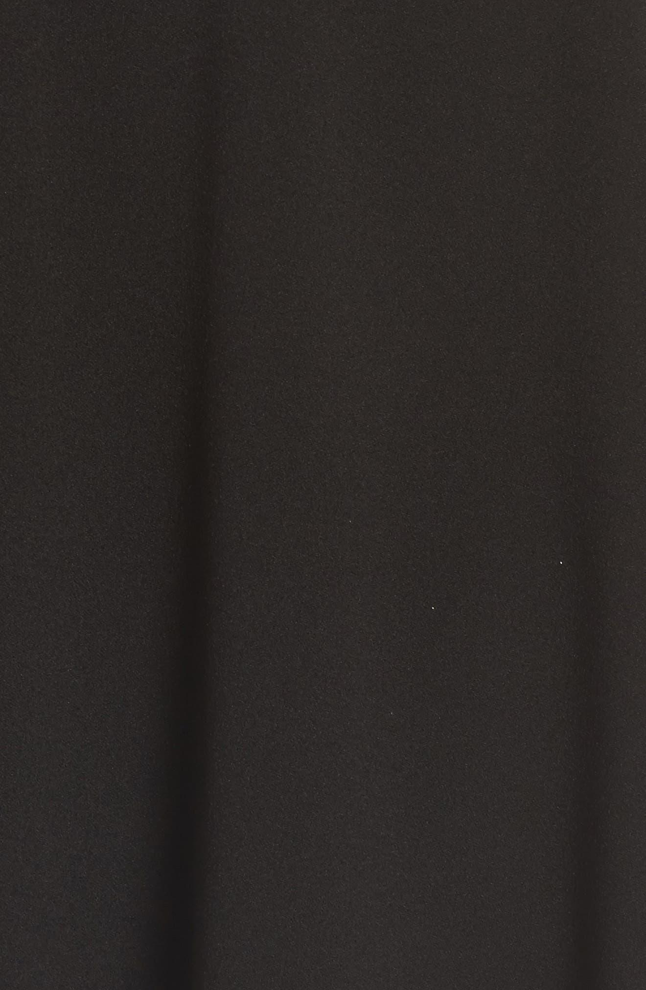 Lace Trim Skater Dress,                             Alternate thumbnail 5, color,                             002