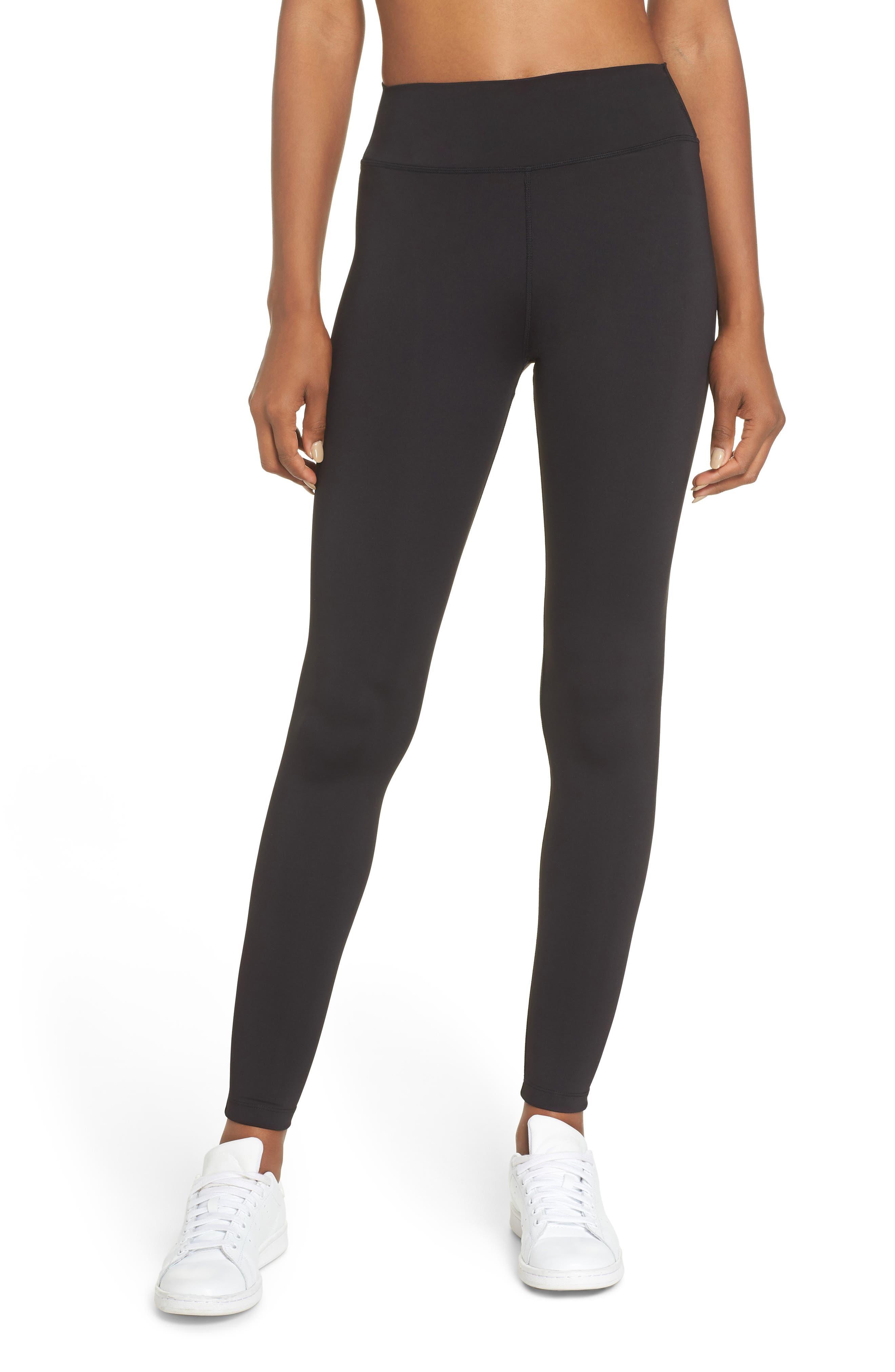 Edie High Waist Tights,                         Main,                         color, BLACK