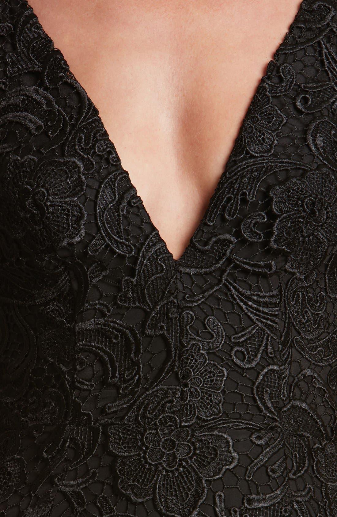 Ava Lace Minidress,                             Alternate thumbnail 4, color,                             008