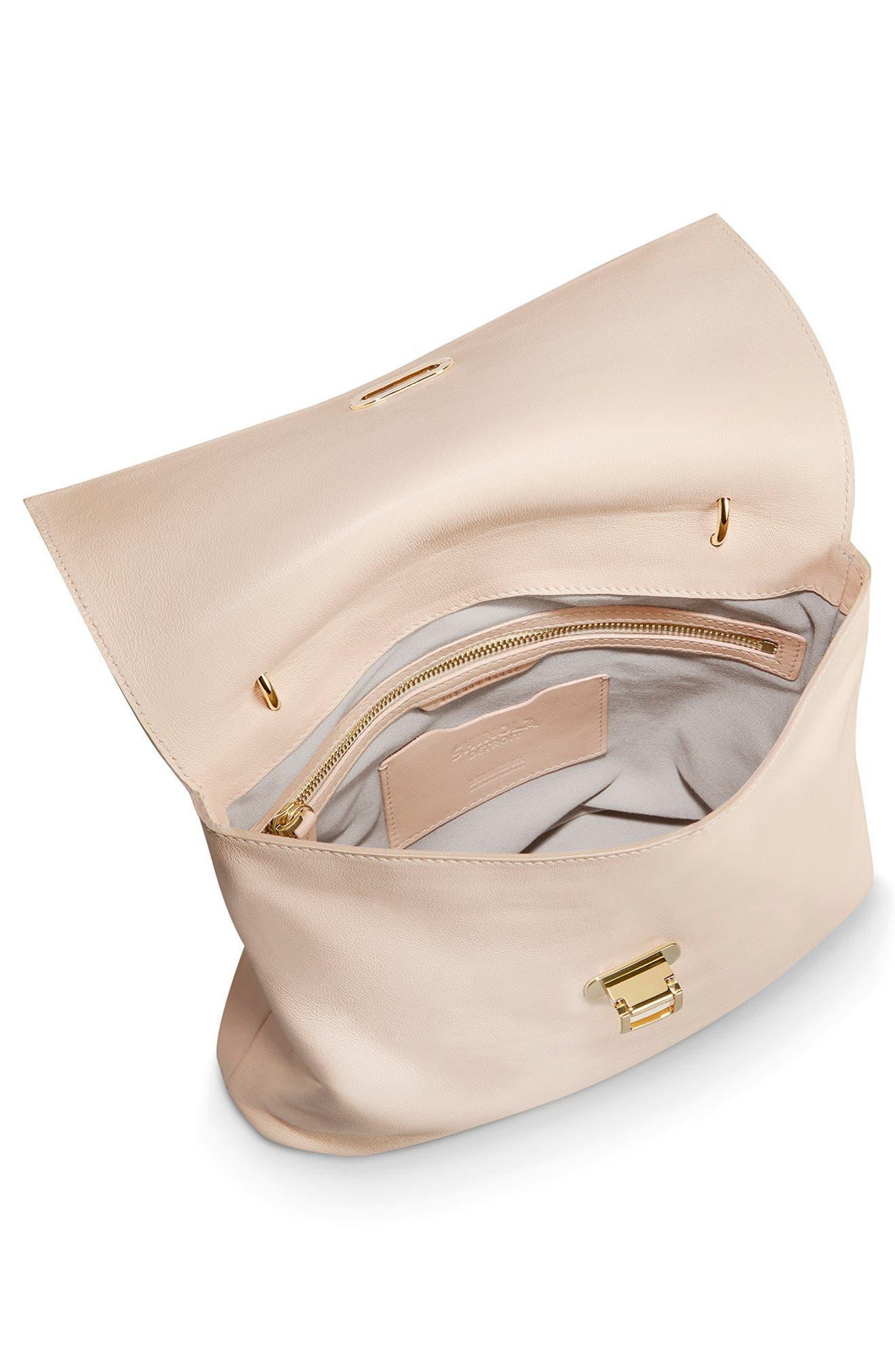 Birdy Leather Shoulder Bag,                             Alternate thumbnail 4, color,                             SOFT BLUSH