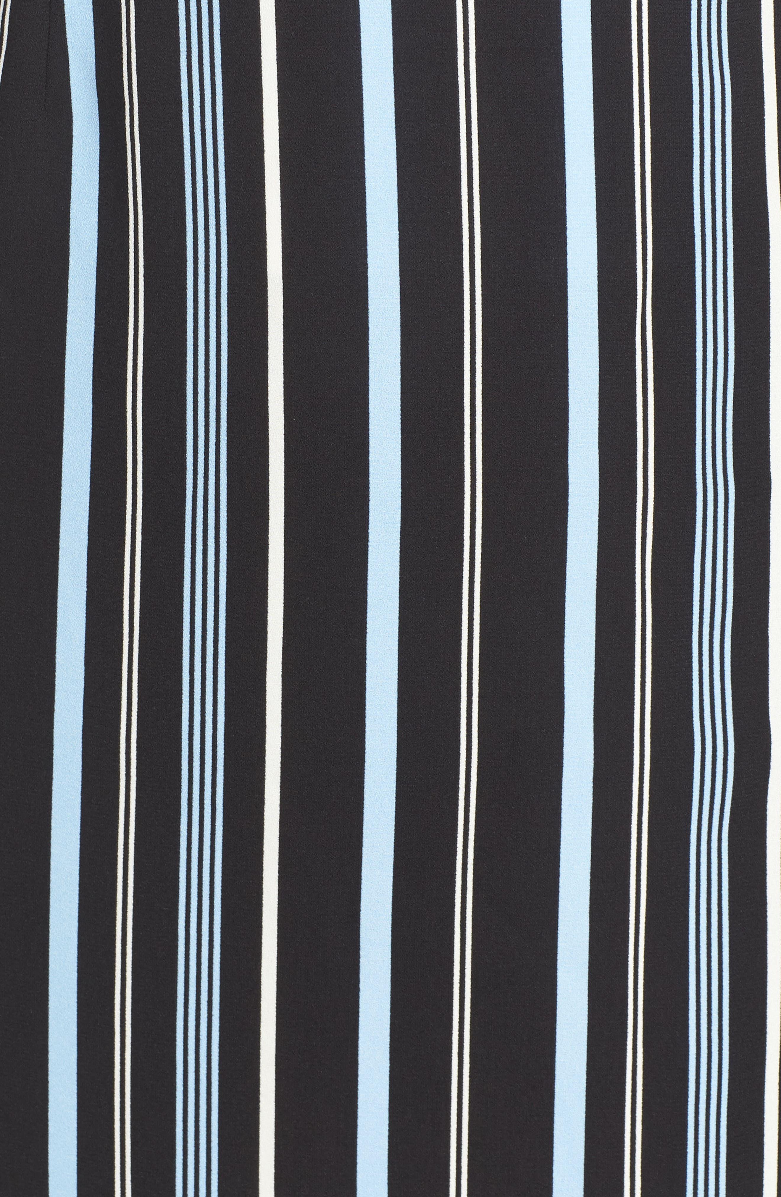 Button Wrap Skirt,                             Alternate thumbnail 11, color,                             BLACK MULTI COLORED STRIPE
