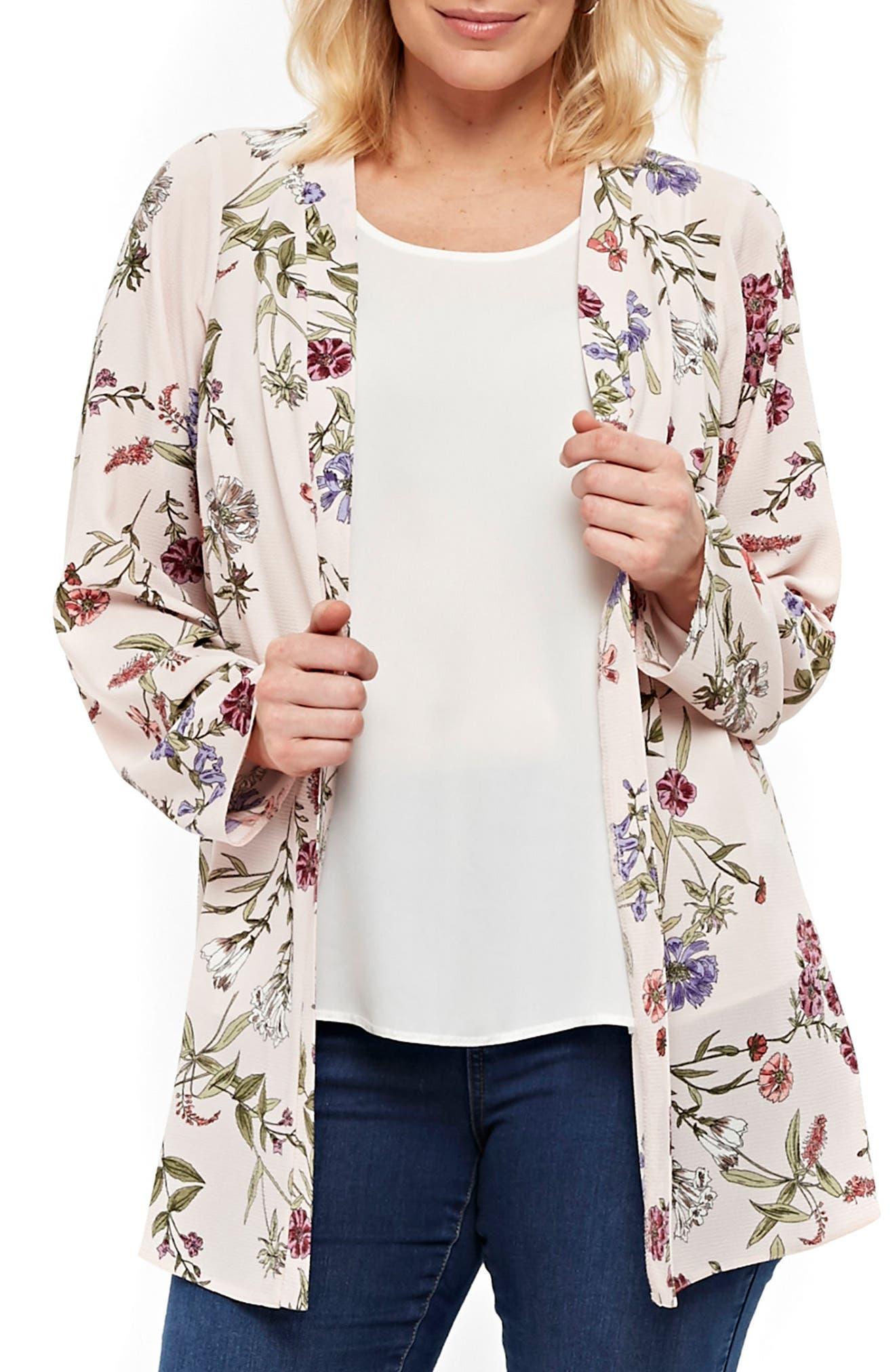 Floral Kimono Jacket,                             Main thumbnail 1, color,                             650