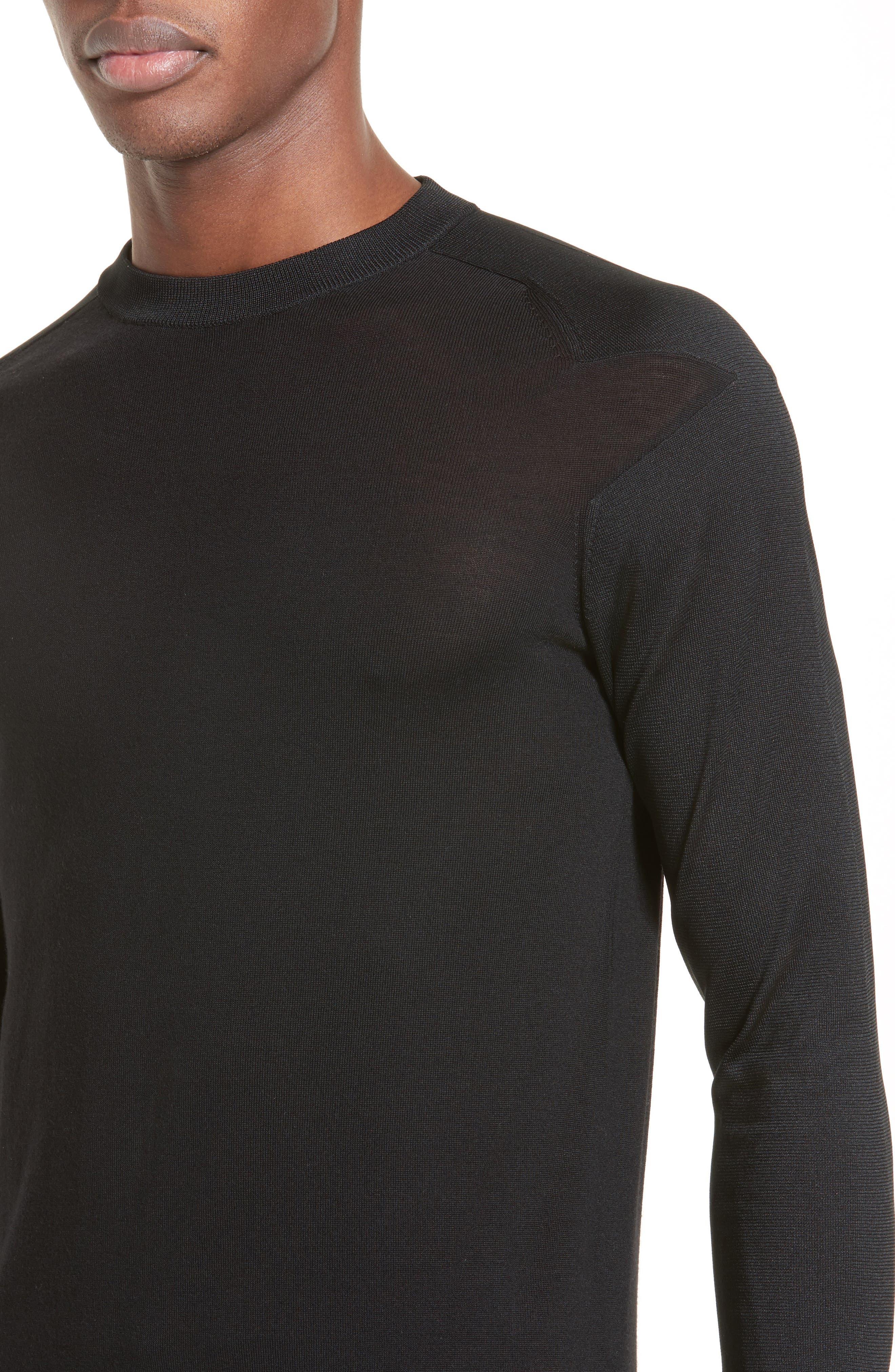 Star Shoulder Sweater,                             Alternate thumbnail 4, color,                             001