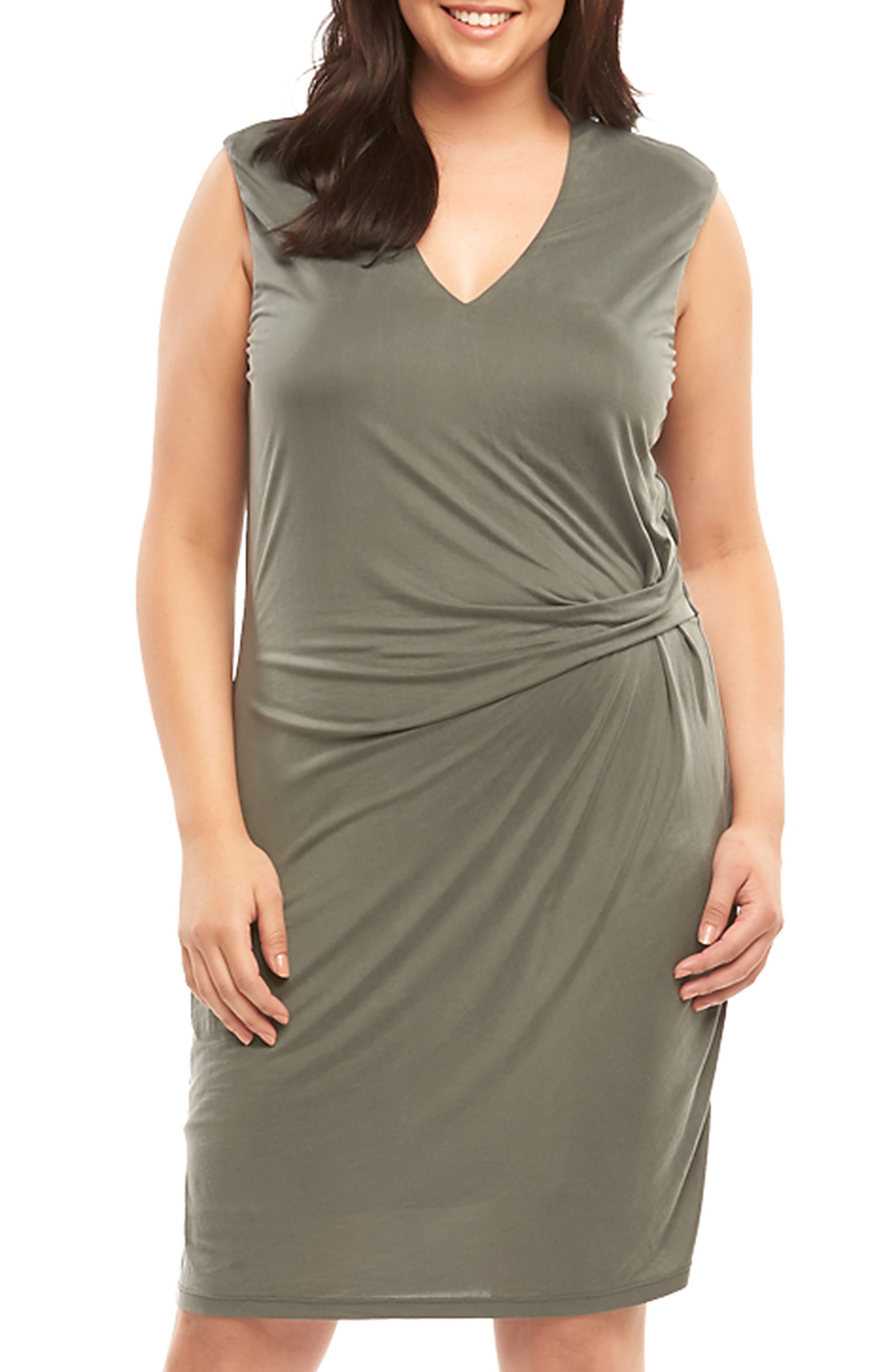 Plus Size Tart Annetta Ruched Sheath Dress, Green