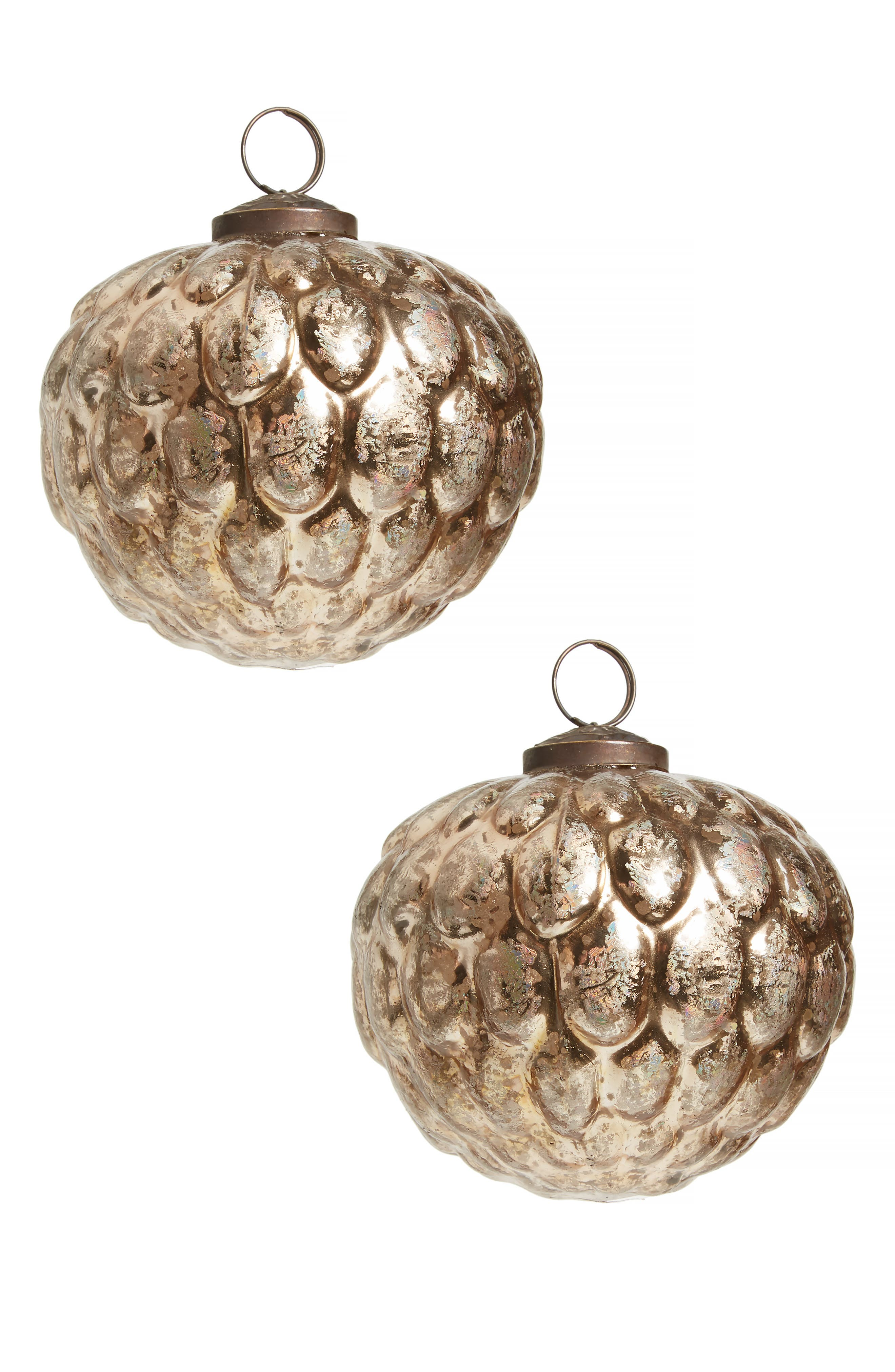 Set of 2 Glass Ball Ornaments,                         Main,                         color, 040