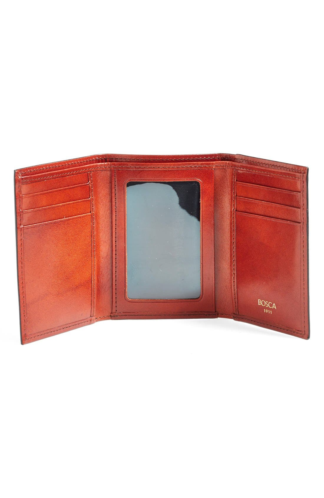 'Old Leather' Trifold Wallet,                             Alternate thumbnail 2, color,                             COGNAC