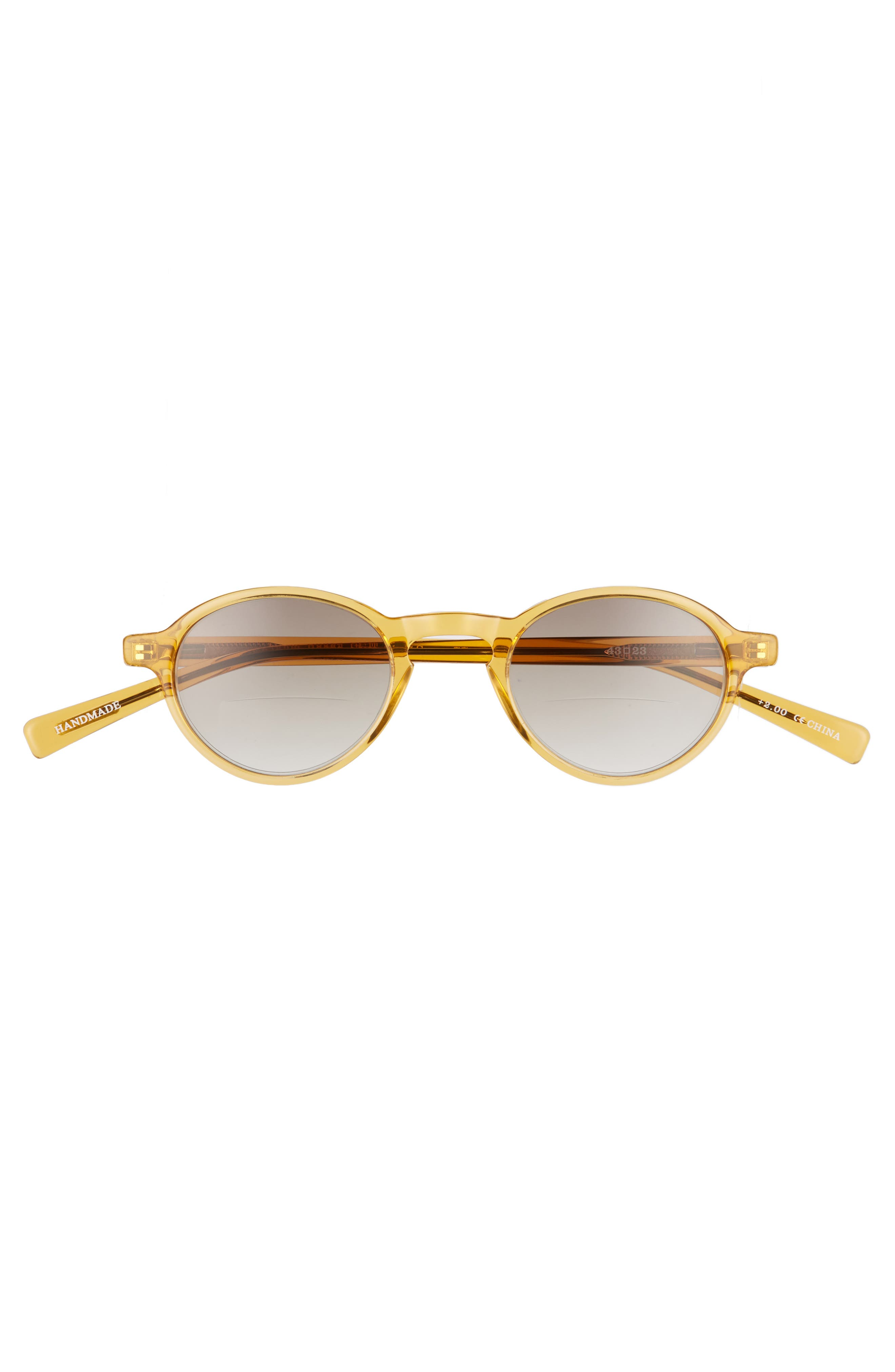 Board Stiff 43mm Reading Sunglasses,                             Alternate thumbnail 2, color,                             ORANGE CRYSTAL