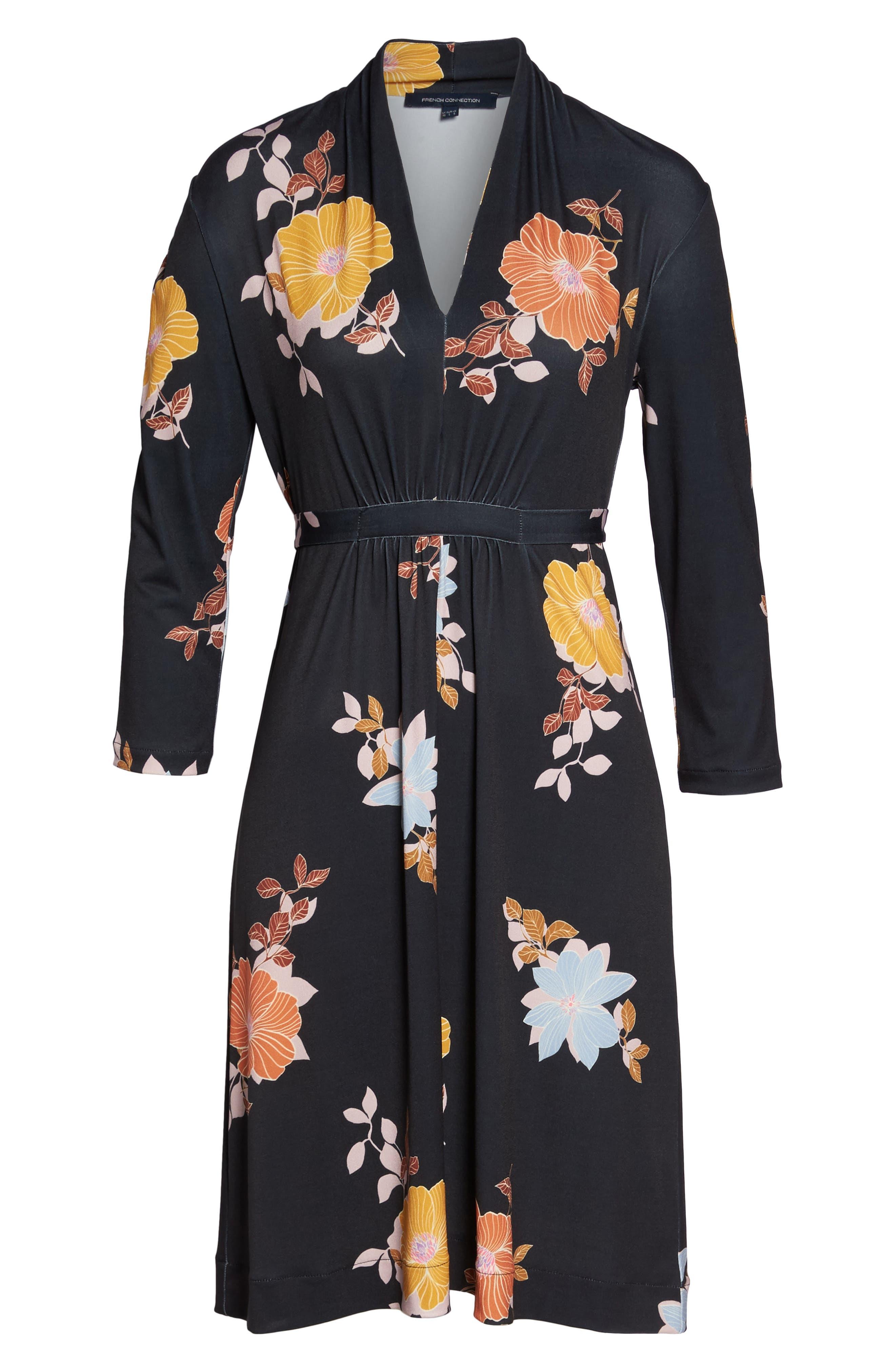 Shikoku Floral Dress,                             Alternate thumbnail 7, color,                             015