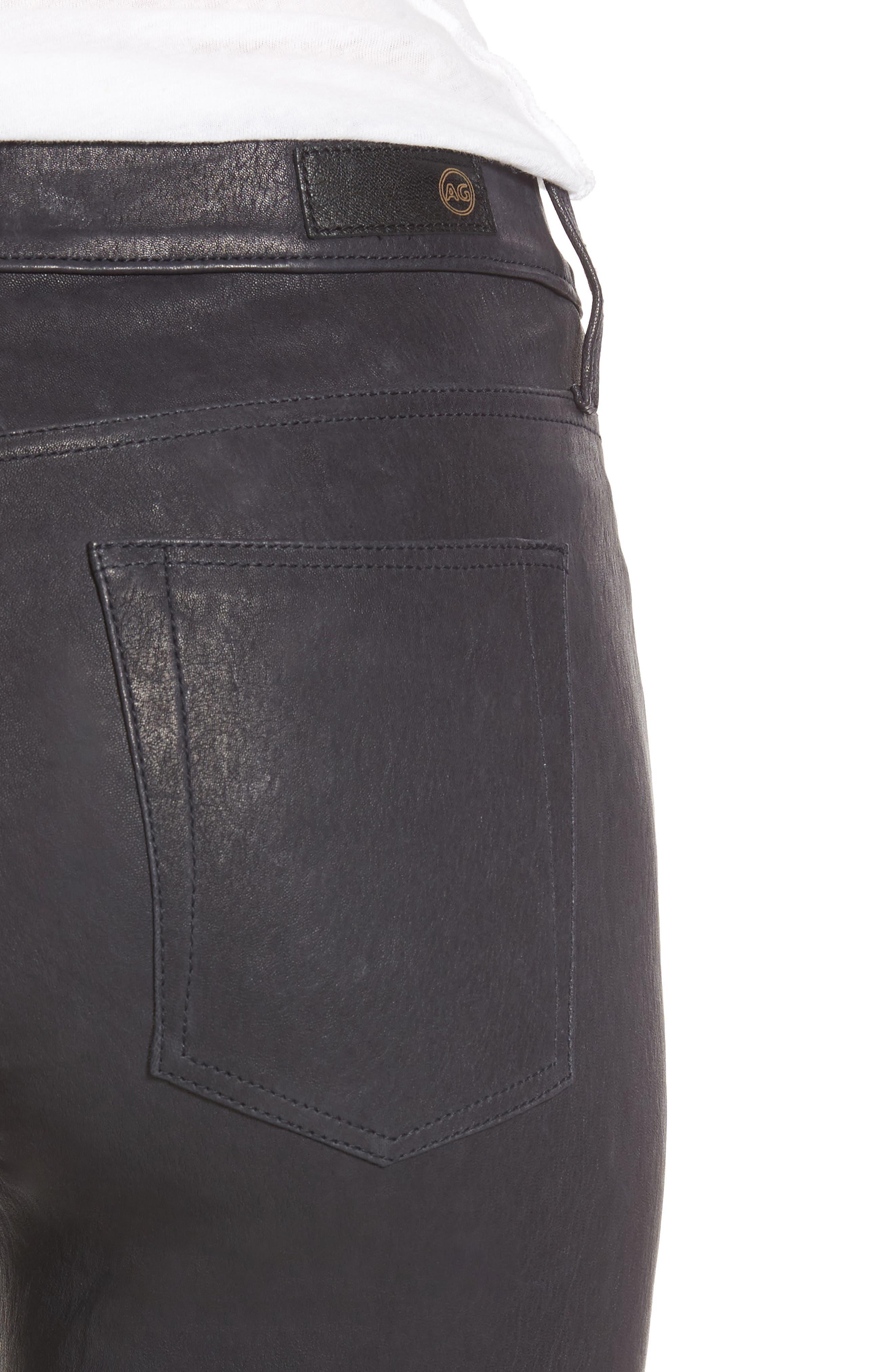 Farrah Leather Skinny Jeans,                             Alternate thumbnail 11, color,