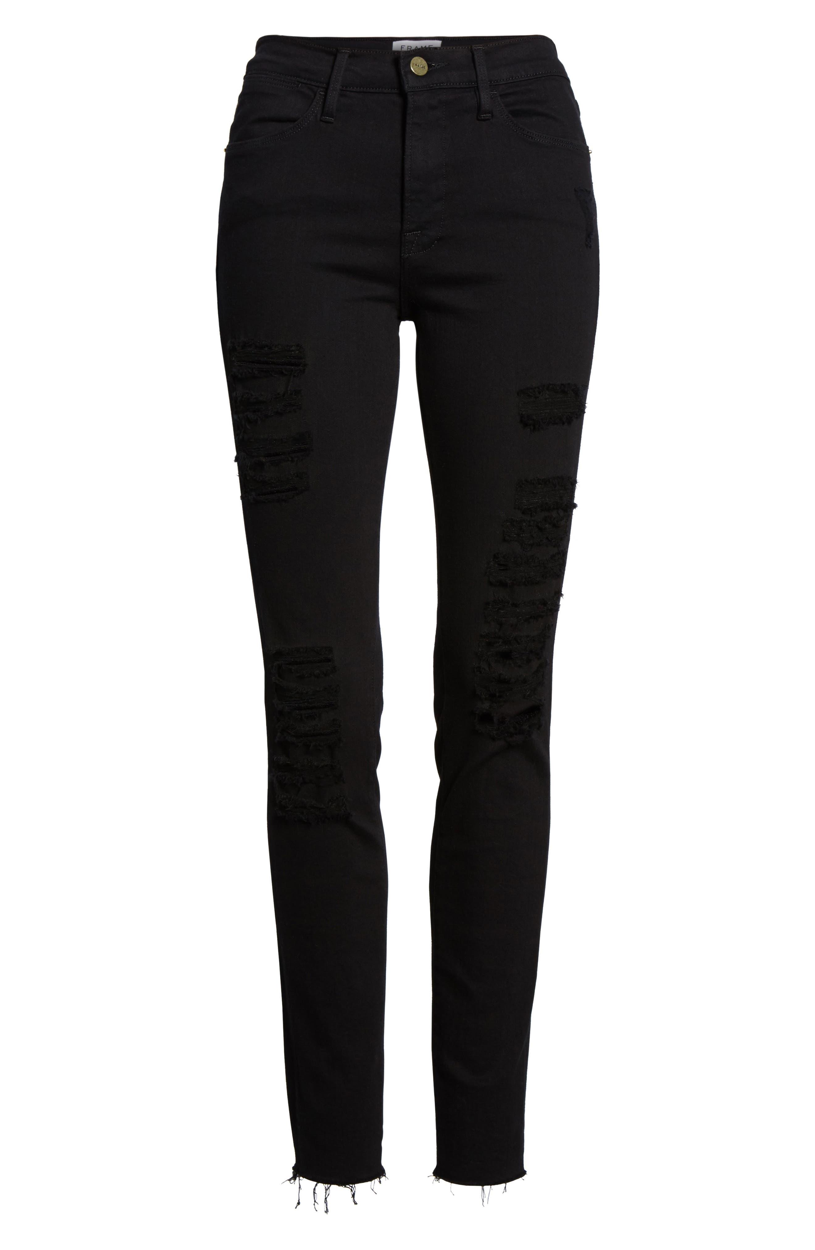 Le Color High Waist Skinny Jeans,                             Alternate thumbnail 7, color,                             003