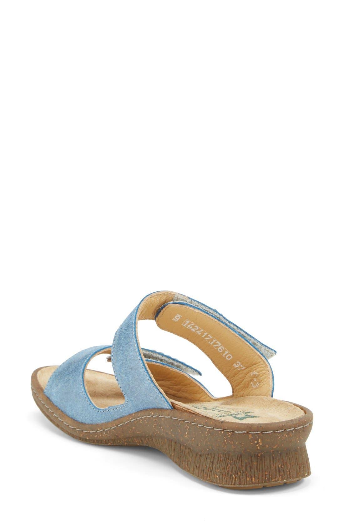 'Bregalia' Metallic Leather Sandal,                             Alternate thumbnail 6, color,                             400