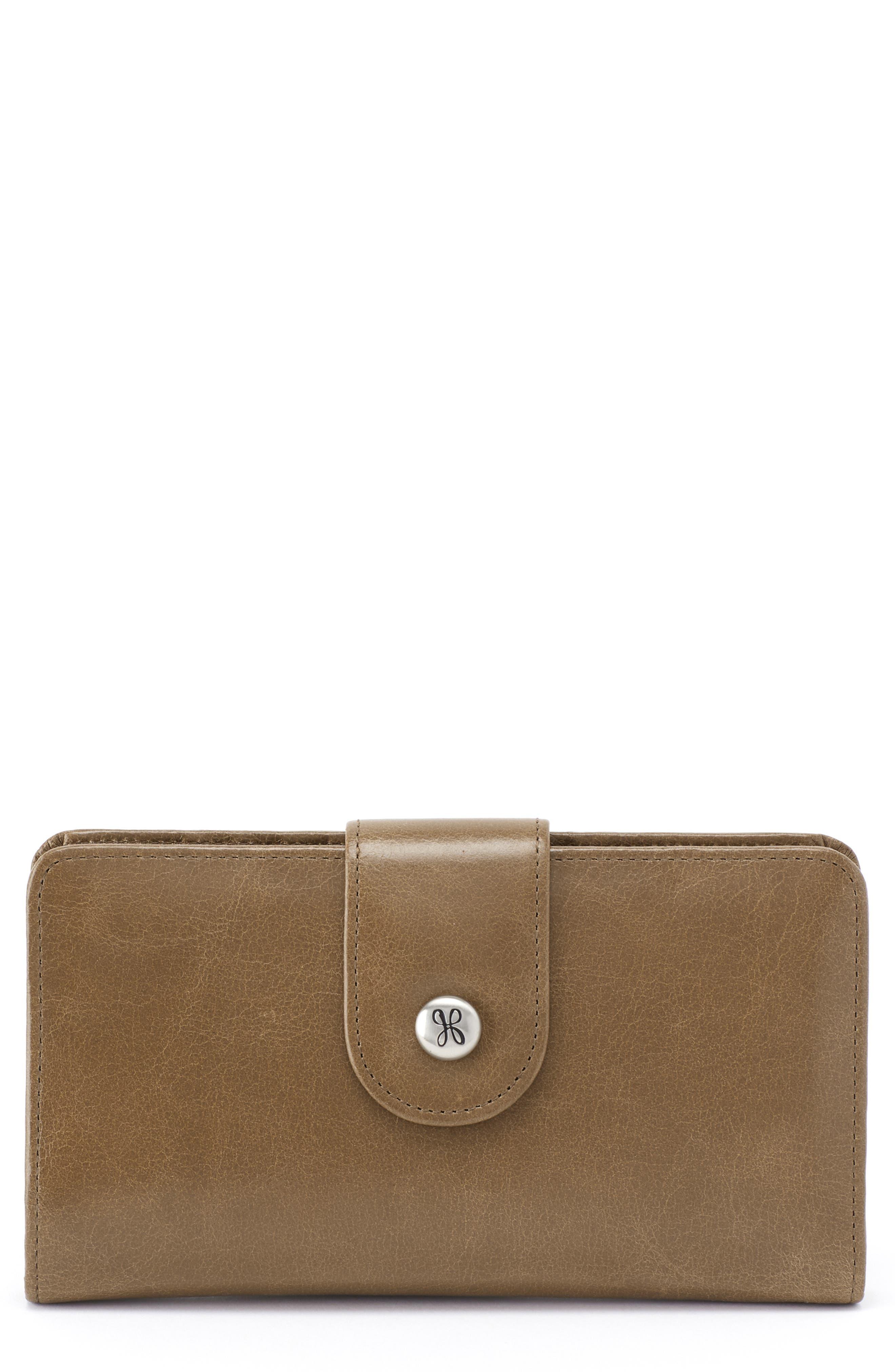 Danette Glazed Continental Wallet,                         Main,                         color, MINK