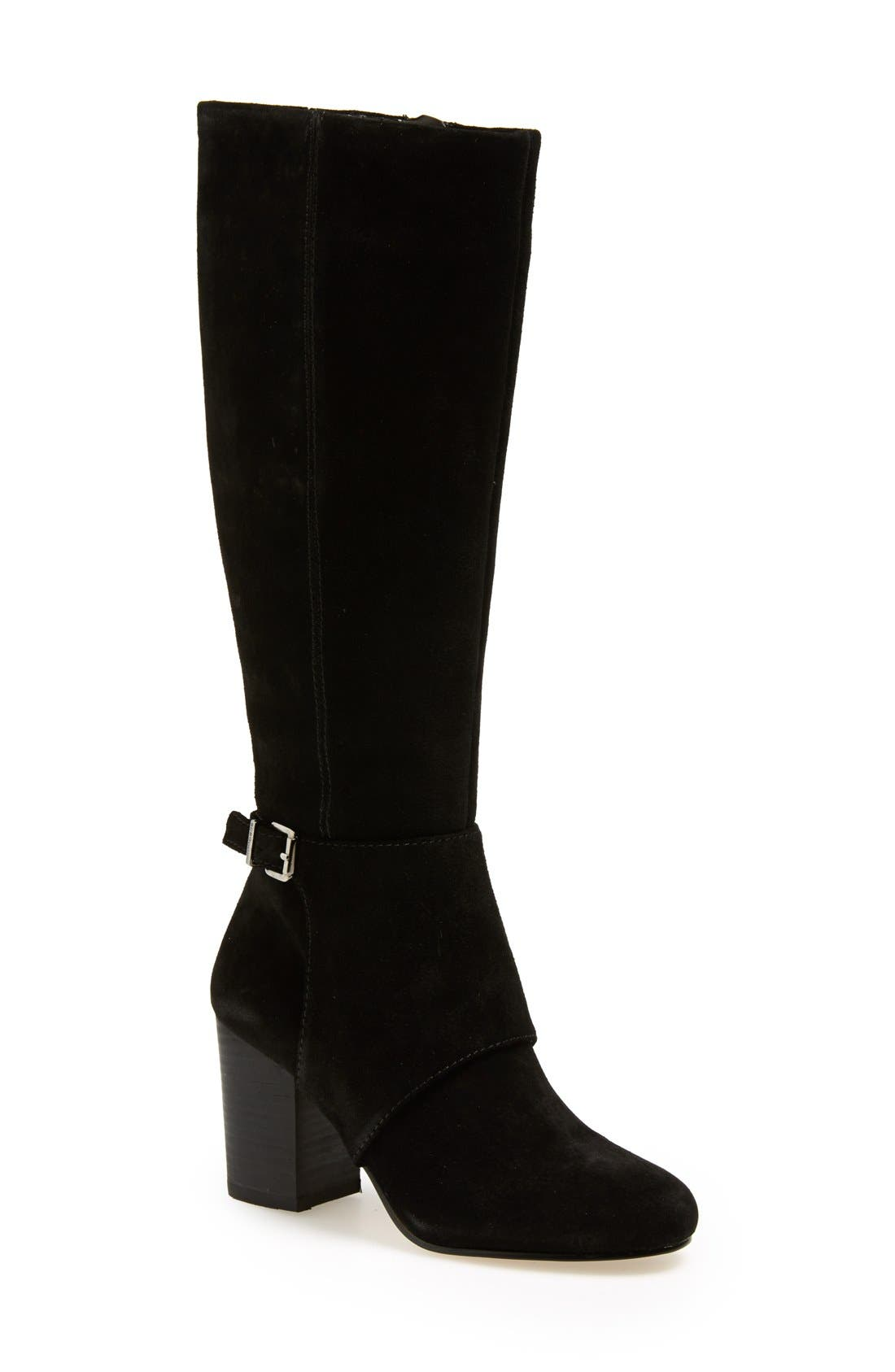 BCBGENERATION,                             'Denver' Knee High Boot,                             Main thumbnail 1, color,                             001