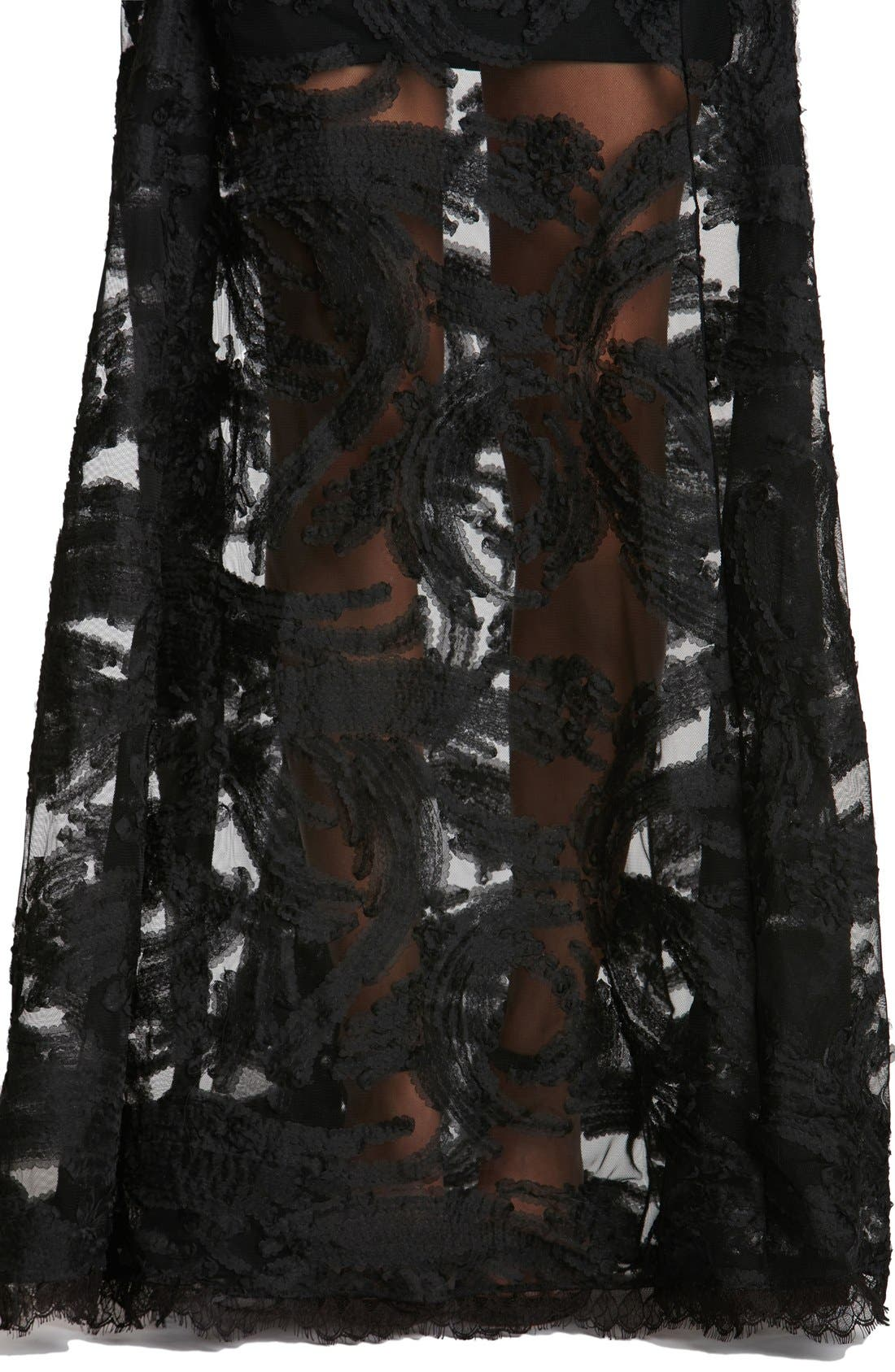 'Florence' Woven Fit & Flare Gown,                             Alternate thumbnail 2, color,                             001
