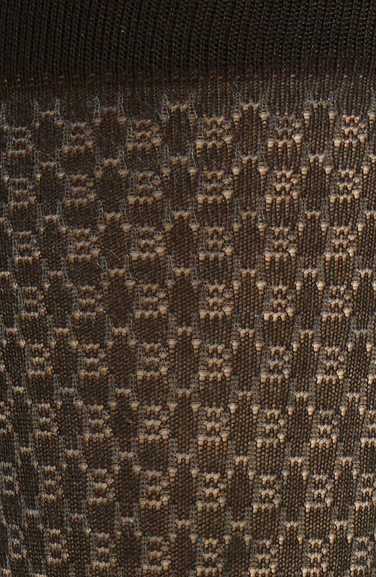 Geometric Socks,                             Alternate thumbnail 2, color,                             BLACK