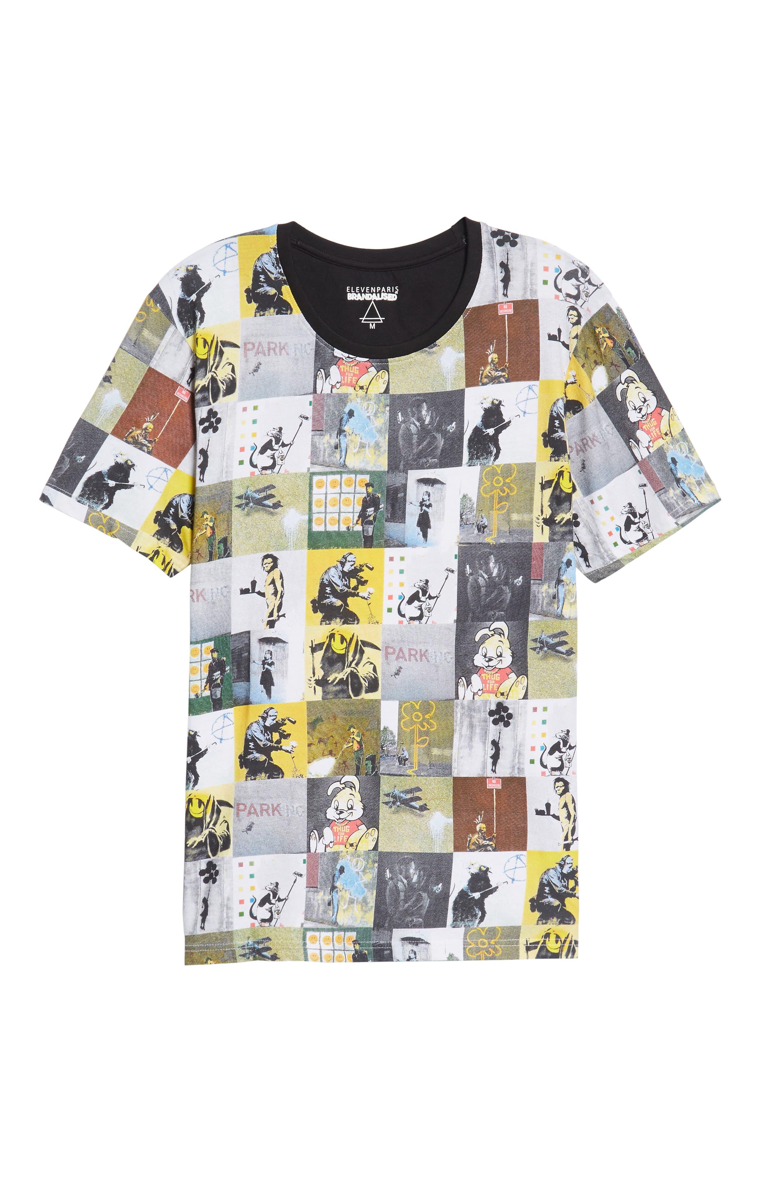 Collage T-Shirt,                             Alternate thumbnail 6, color,                             002