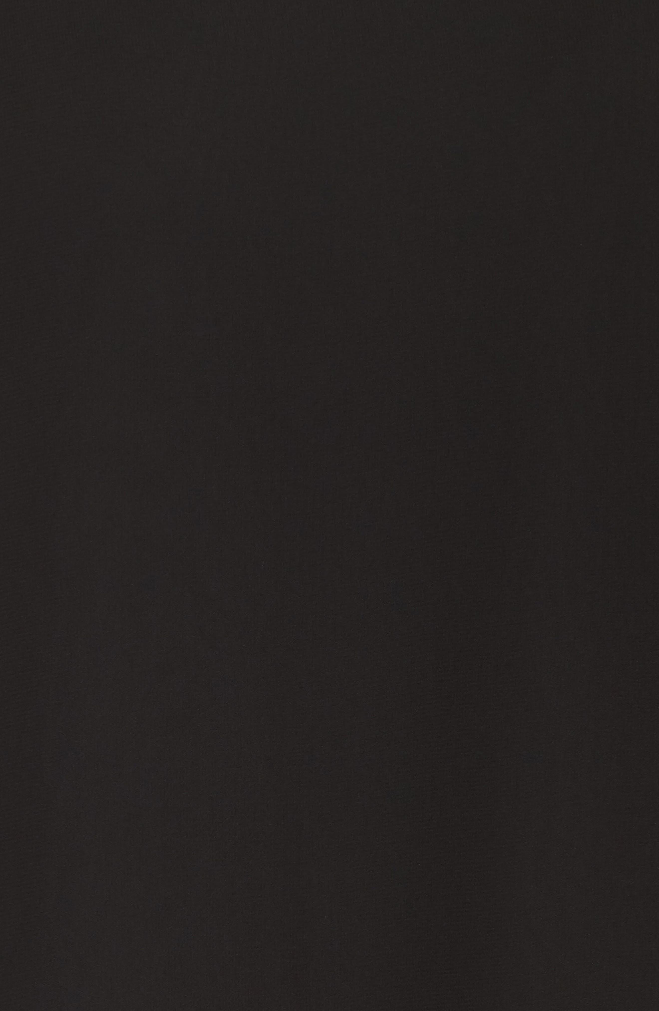 Beaded Neck Chiffon Overlay Dress,                             Alternate thumbnail 6, color,                             BLACK/ GUNMETAL
