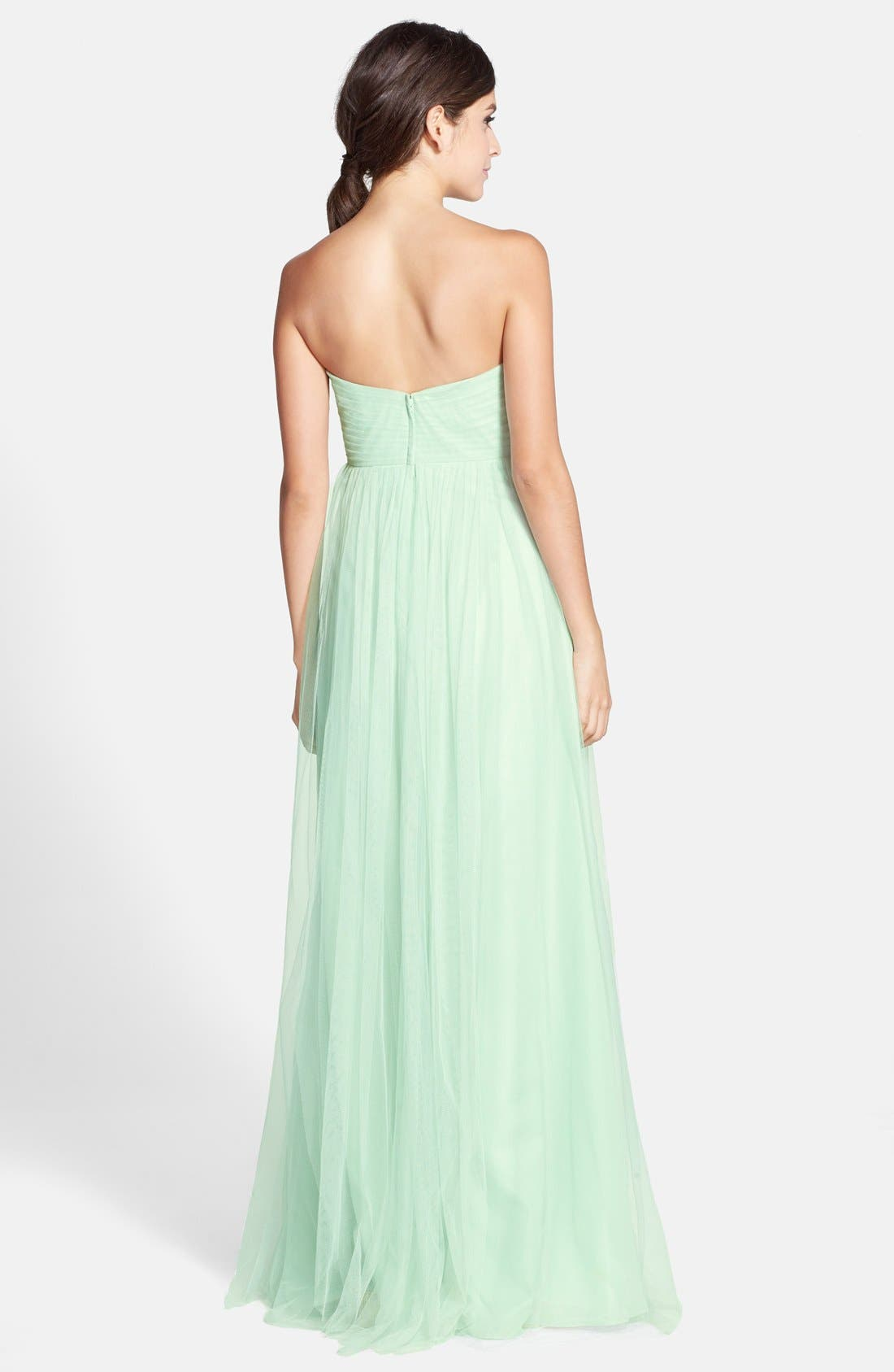 Annabelle Convertible Tulle Column Dress,                             Alternate thumbnail 55, color,